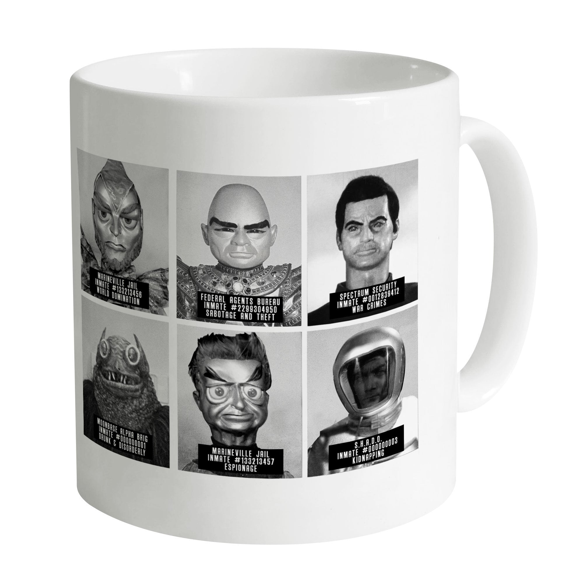 Suspects and Villains Mug [Official & Exclusive] - The Gerry Anderson Store