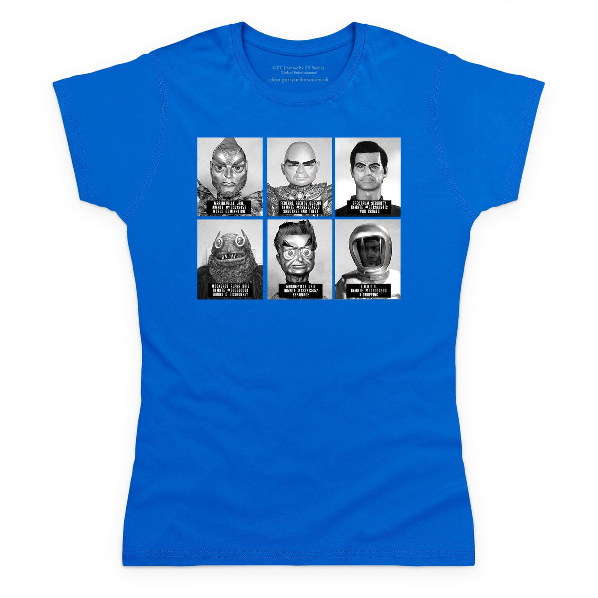 Suspects and Villains Women's T-shirt [Official & Exclusive] - The Gerry Anderson Store