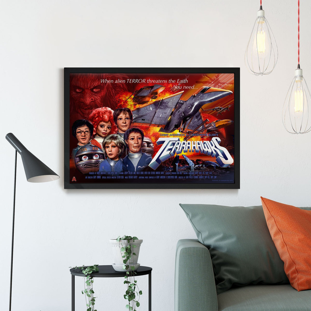 Terrahawks Framed Print [Official and Exclusive] - The Gerry Anderson Store