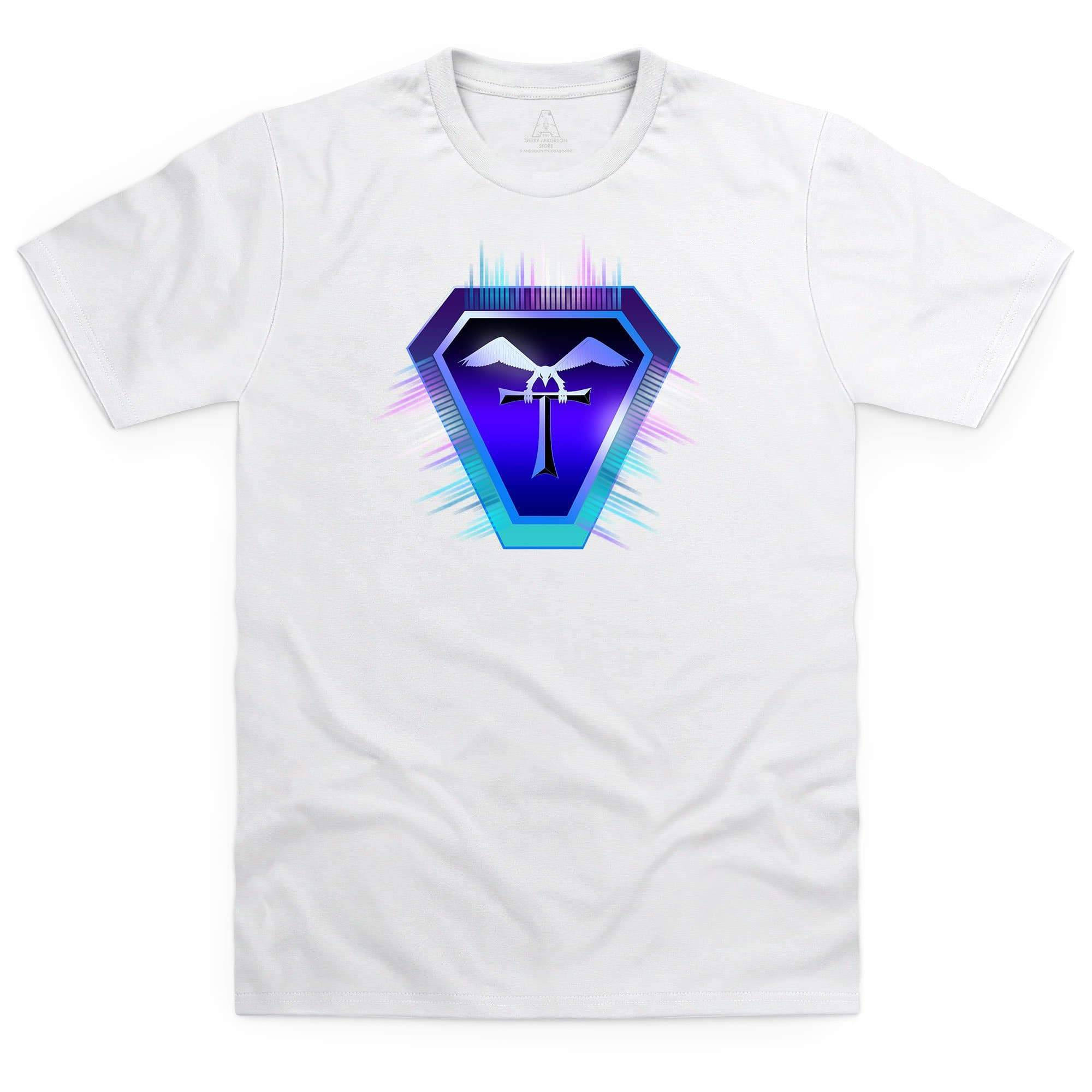 Terrahawks Neon Logo Men's White T-Shirt [Official & Exclusive] - The Gerry Anderson Store