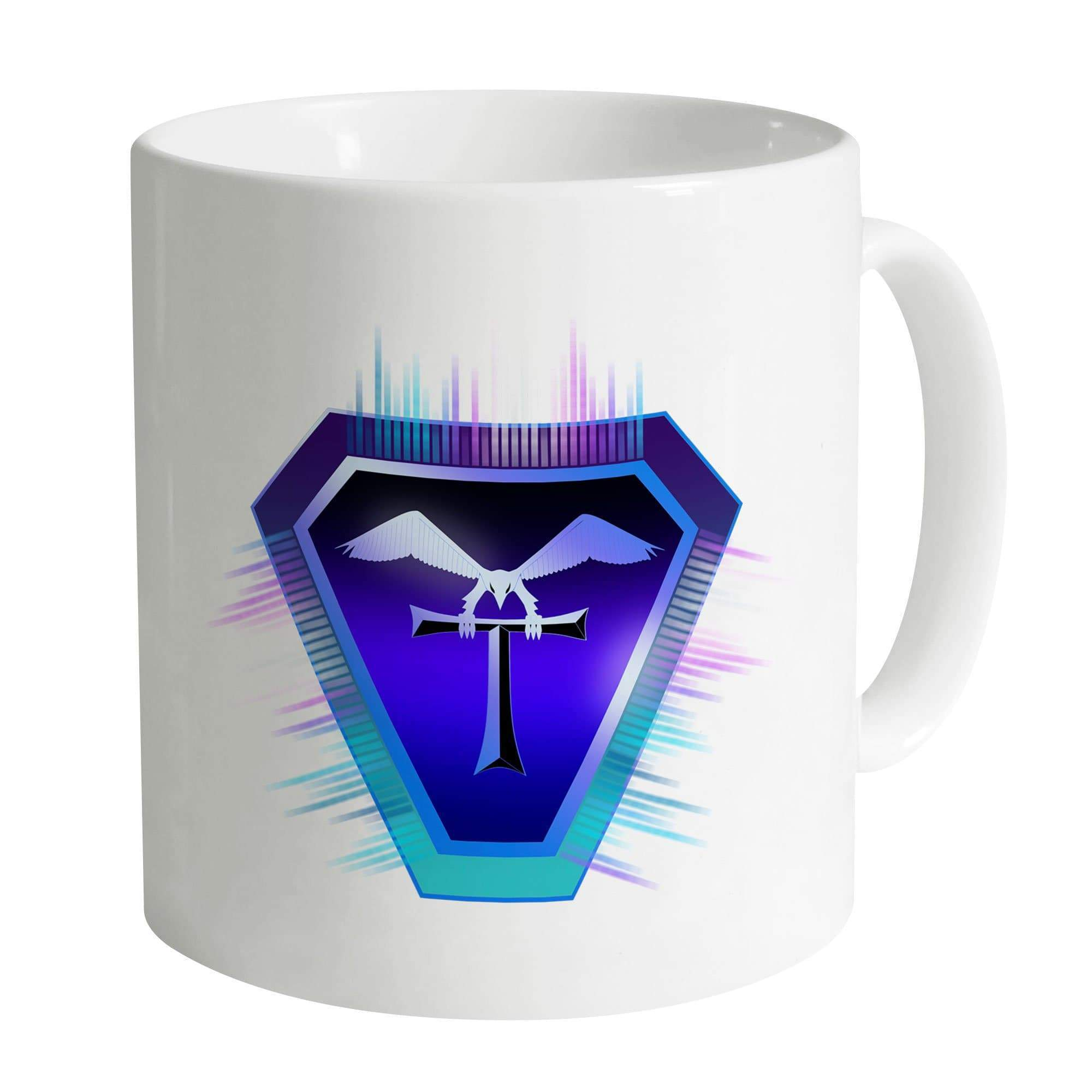 Terrahawks Neon Logo White Mug [Official & Exclusive] - The Gerry Anderson Store