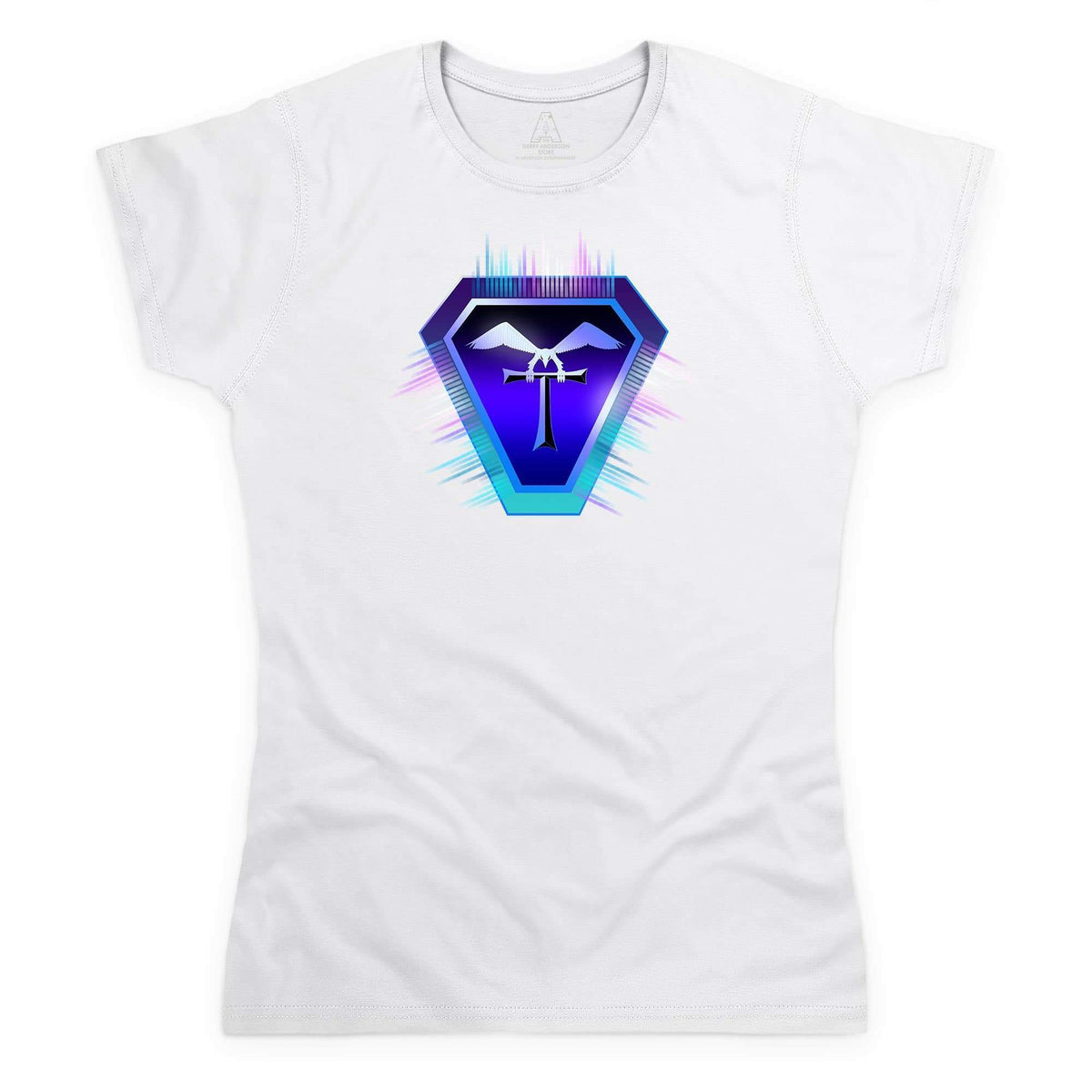Terrahawks Neon Logo Women's White T-Shirt [Official & Exclusive] - The Gerry Anderson Store