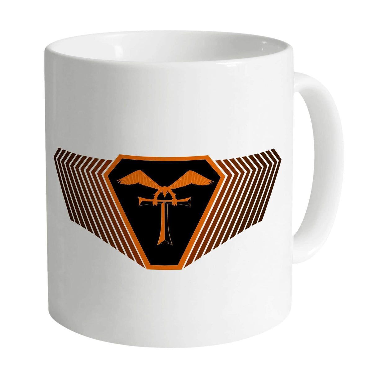 Terrahawks Orange Emblem on a White Mug [Official & Exclusive] - The Gerry Anderson Store