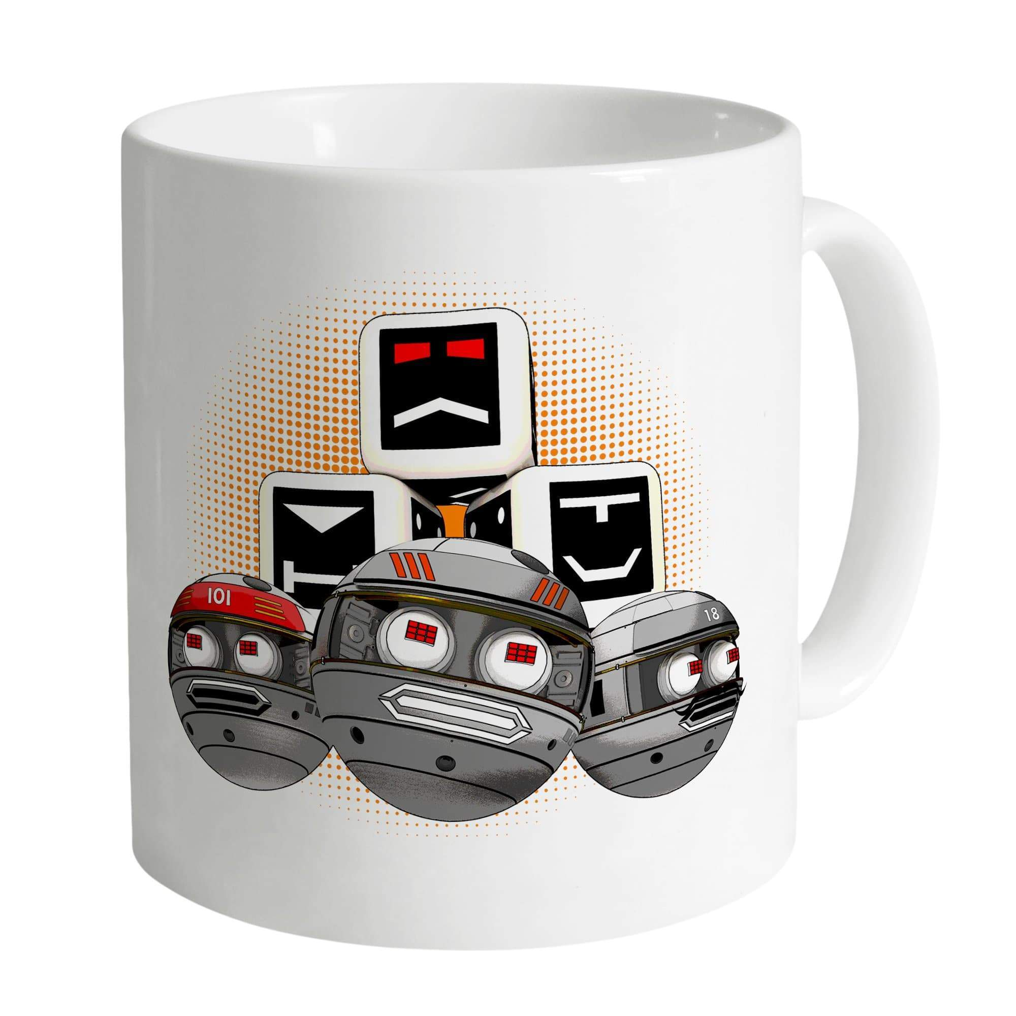 Terrahawks Zeroids and Cubes Design White Mug [Official & Exclusive] - The Gerry Anderson Store