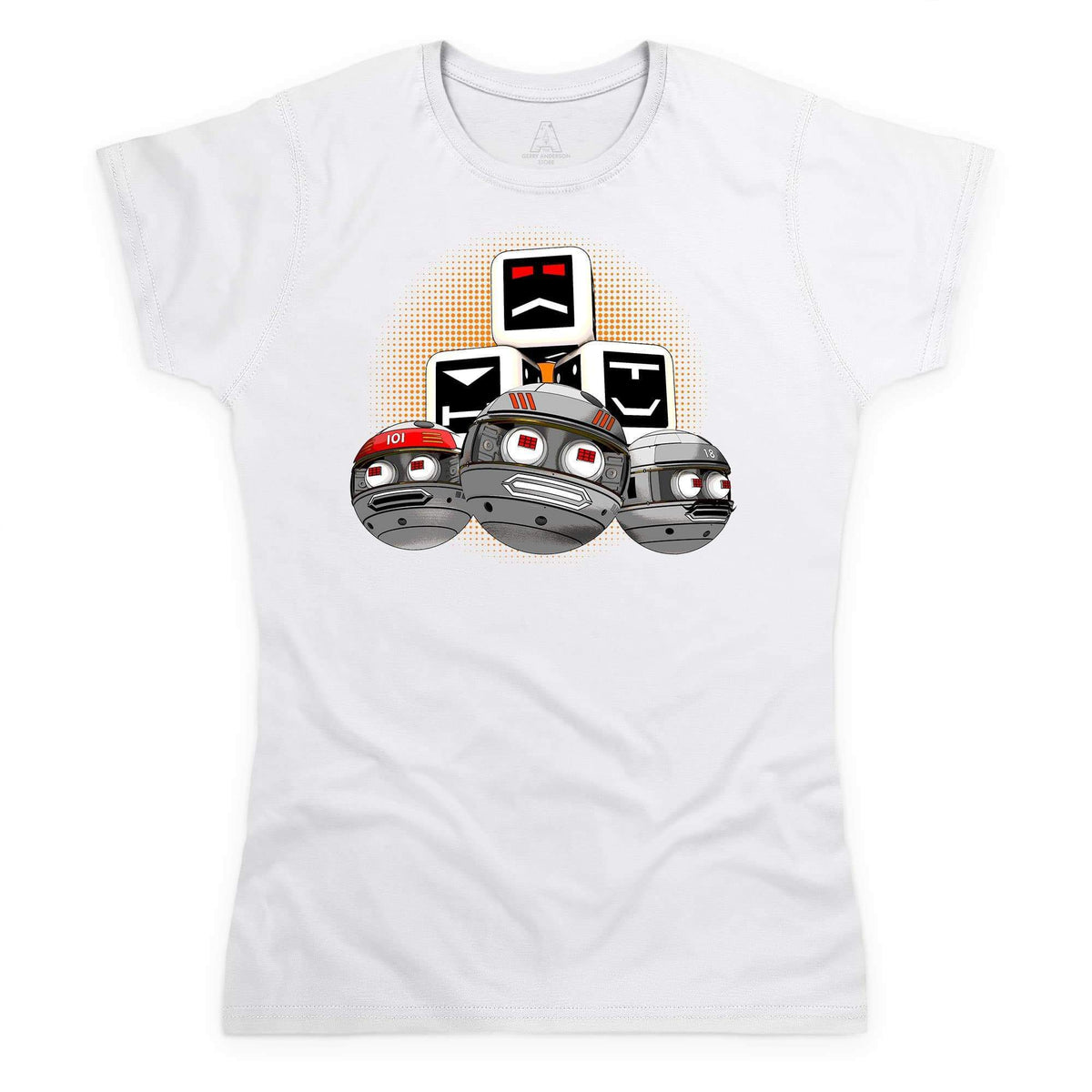 Terrahawks Zeroids & Cubes Design Women's White T-Shirt [Official & Exclusive] - The Gerry Anderson Store