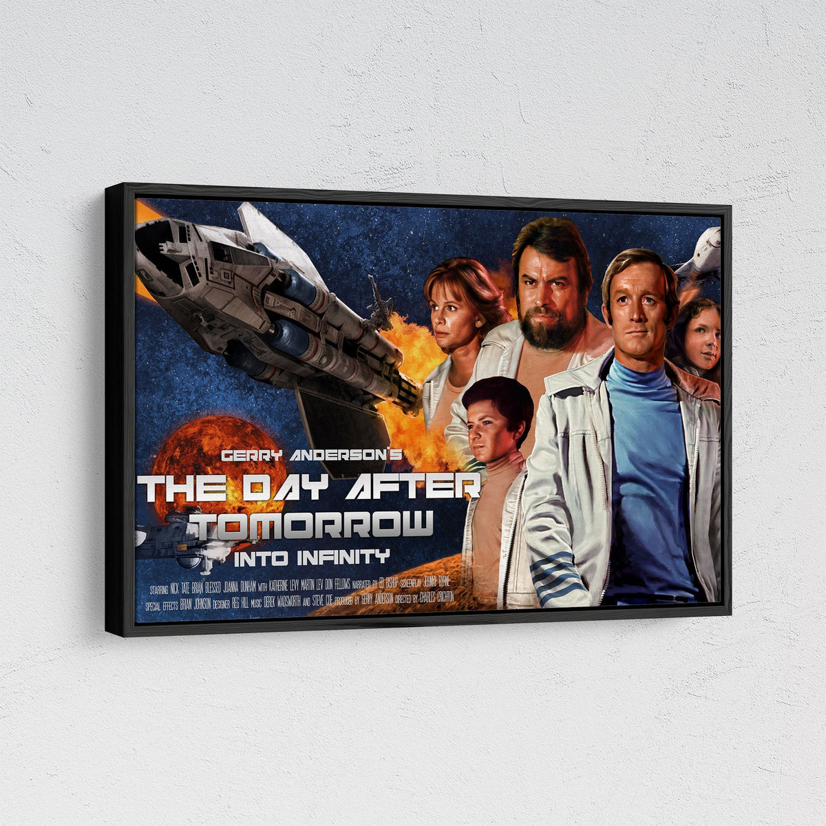 The Day After Tomorrow/ Into Infinity Framed Canvas Print [Official and Exclusive] - The Gerry Anderson Store
