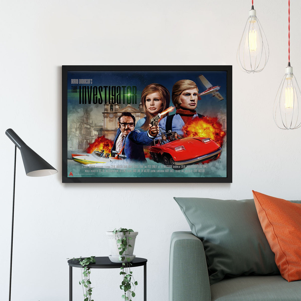 The Investigator Framed Print [Official and Exclusive] - The Gerry Anderson Store