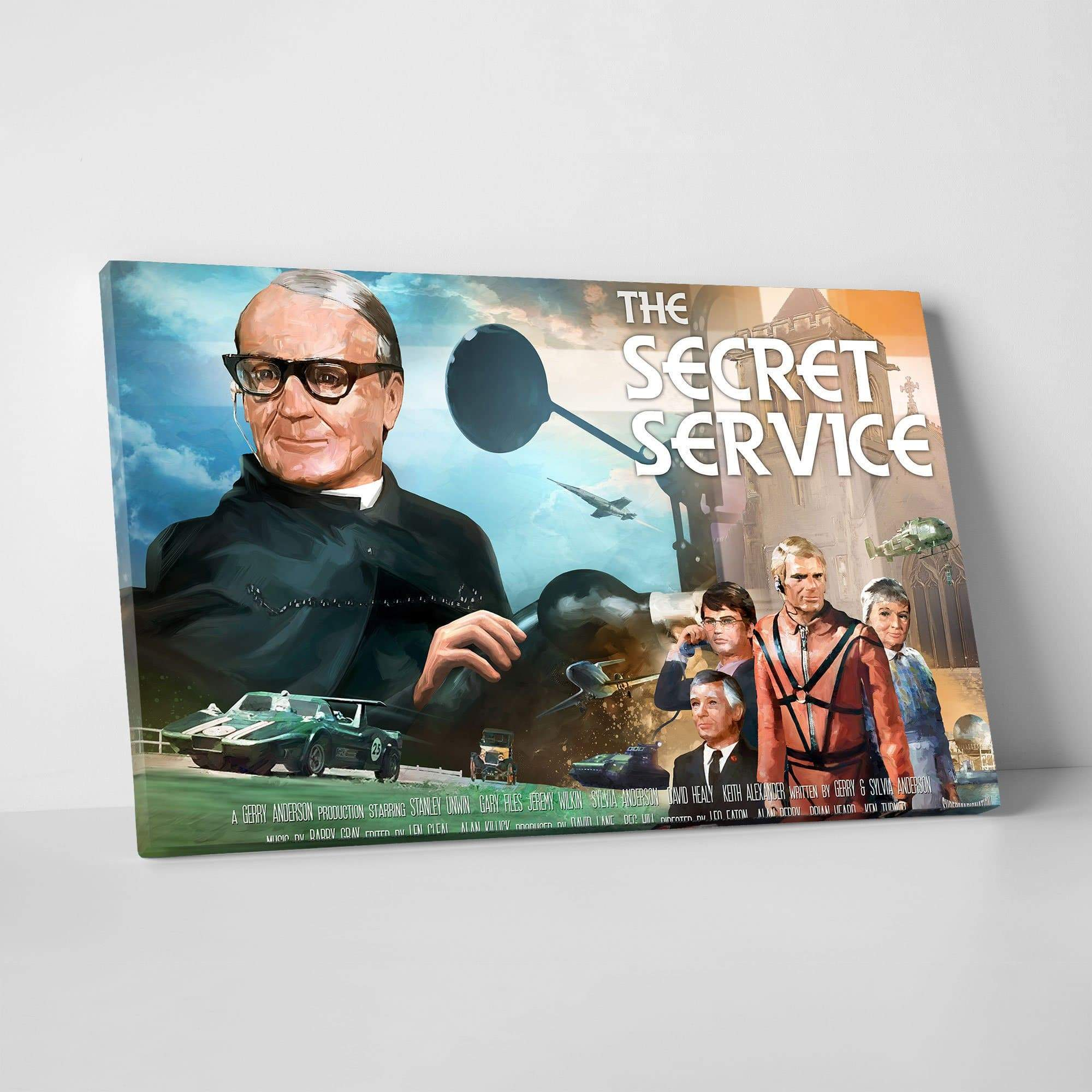 The Secret Service Canvas Print [Official & Exclusive] - The Gerry Anderson Store