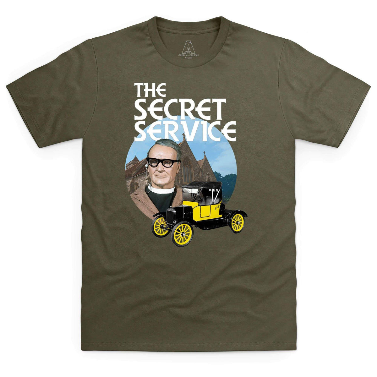 The Secret Service Father Unwin Men's T-Shirt [Official & Exclusive] - The Gerry Anderson Store