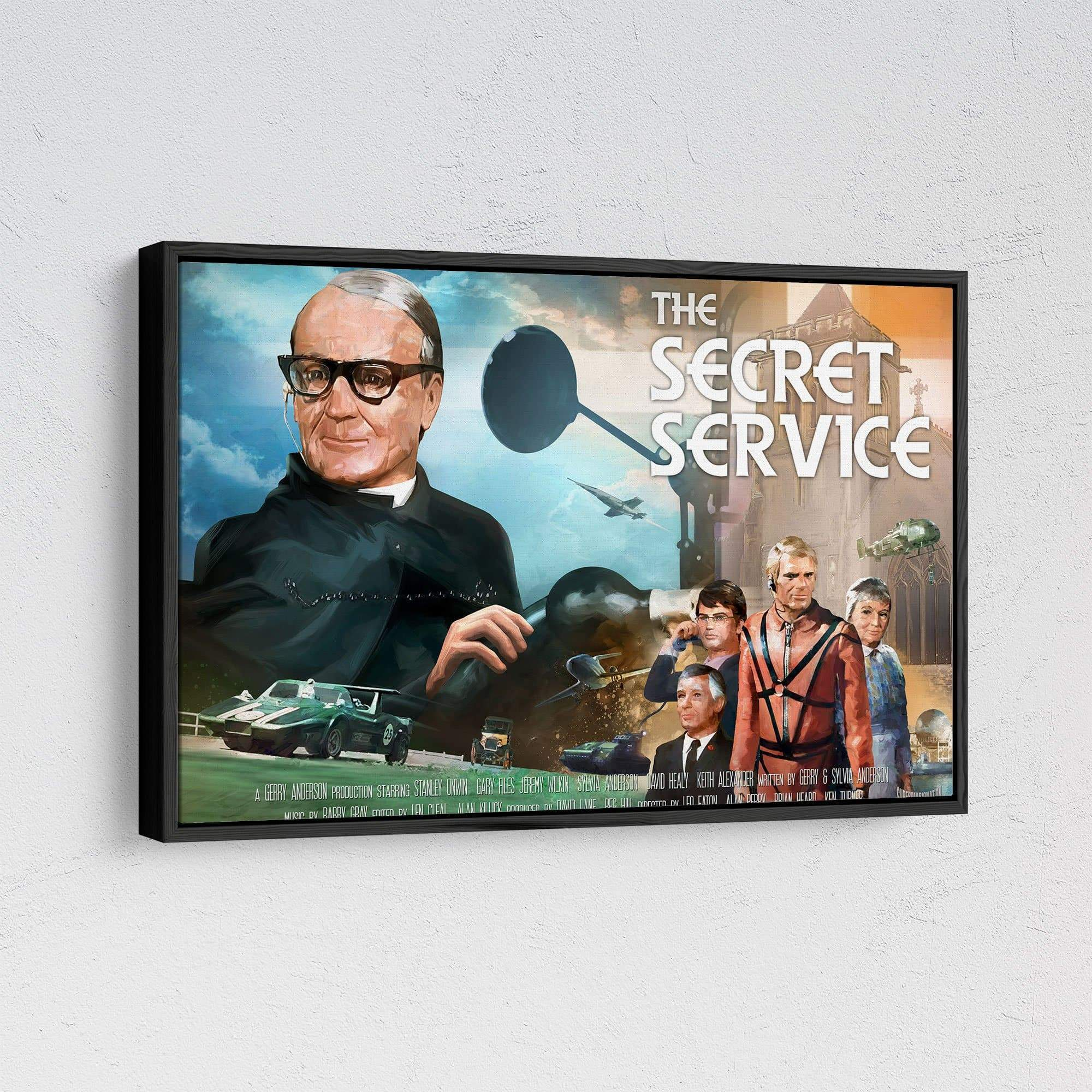 The Secret Service Framed Canvas Print [Official & Exclusive] - The Gerry Anderson Store