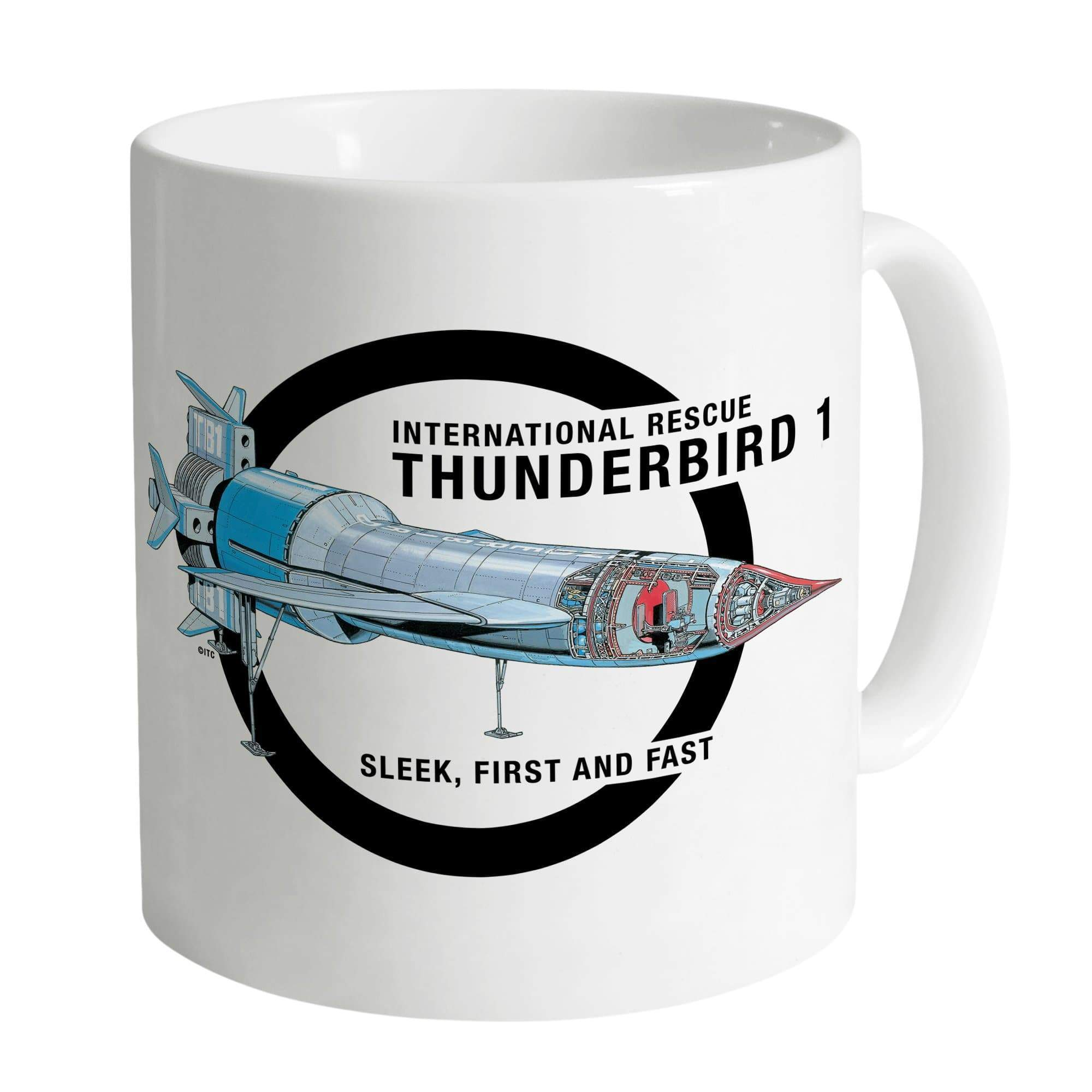 Thunderbird 1 Cutaway White Mug [Official & Exclusive] - The Gerry Anderson Store
