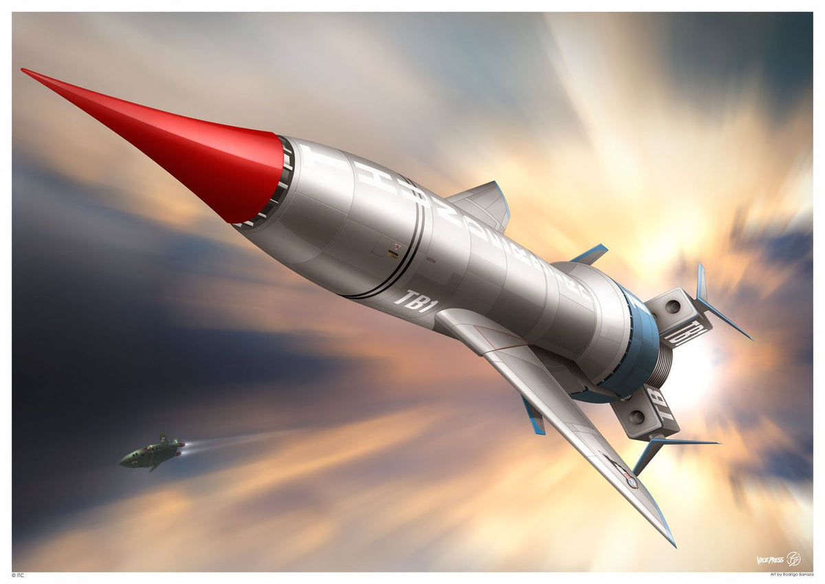 Thunderbird 1 In Flight Print by Rodrigo Barrazza - The Gerry Anderson Store