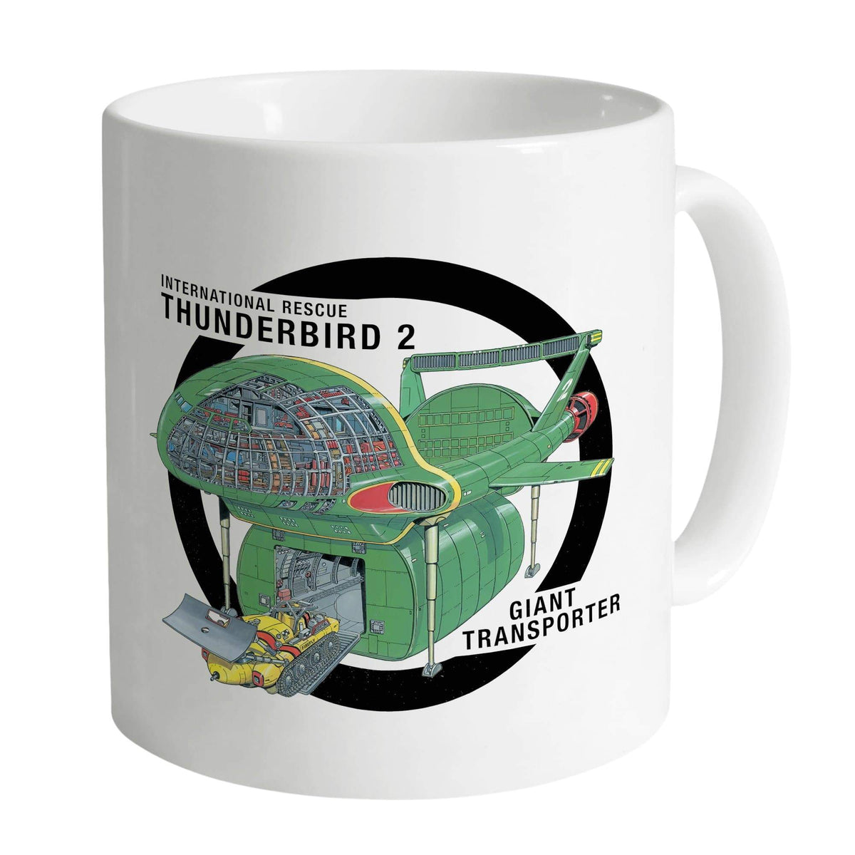 Thunderbird 2 Cutaway White Mug [Official & Exclusive] - The Gerry Anderson Store