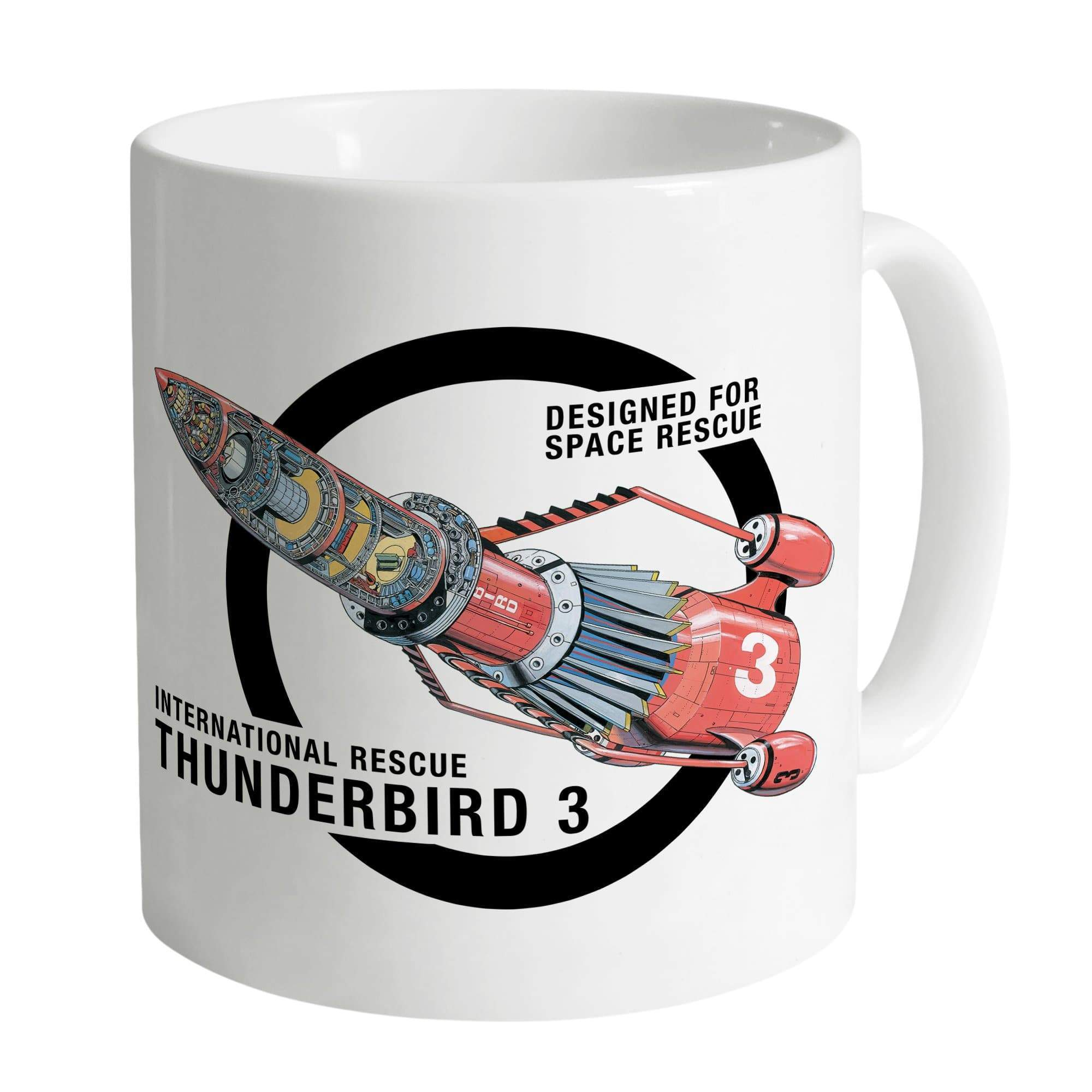 Thunderbird 3 Cutaway White Mug [Official & Exclusive] - The Gerry Anderson Store