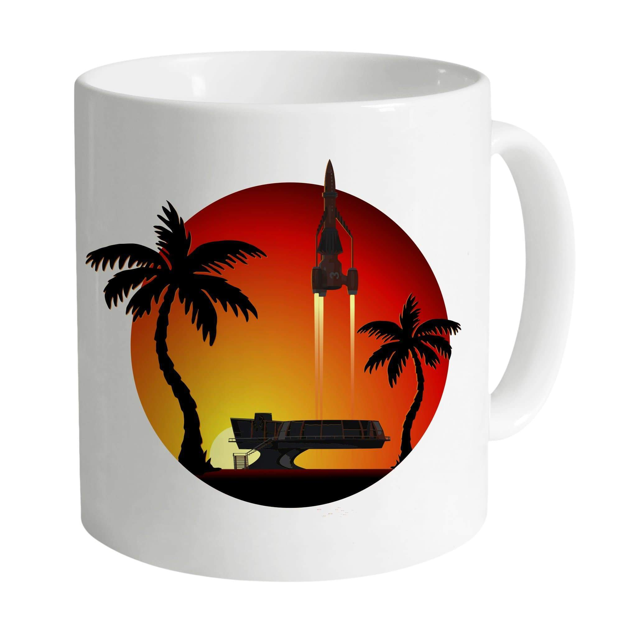 Thunderbird 3 Sunset White Mug [Official & Exclusive] - The Gerry Anderson Store