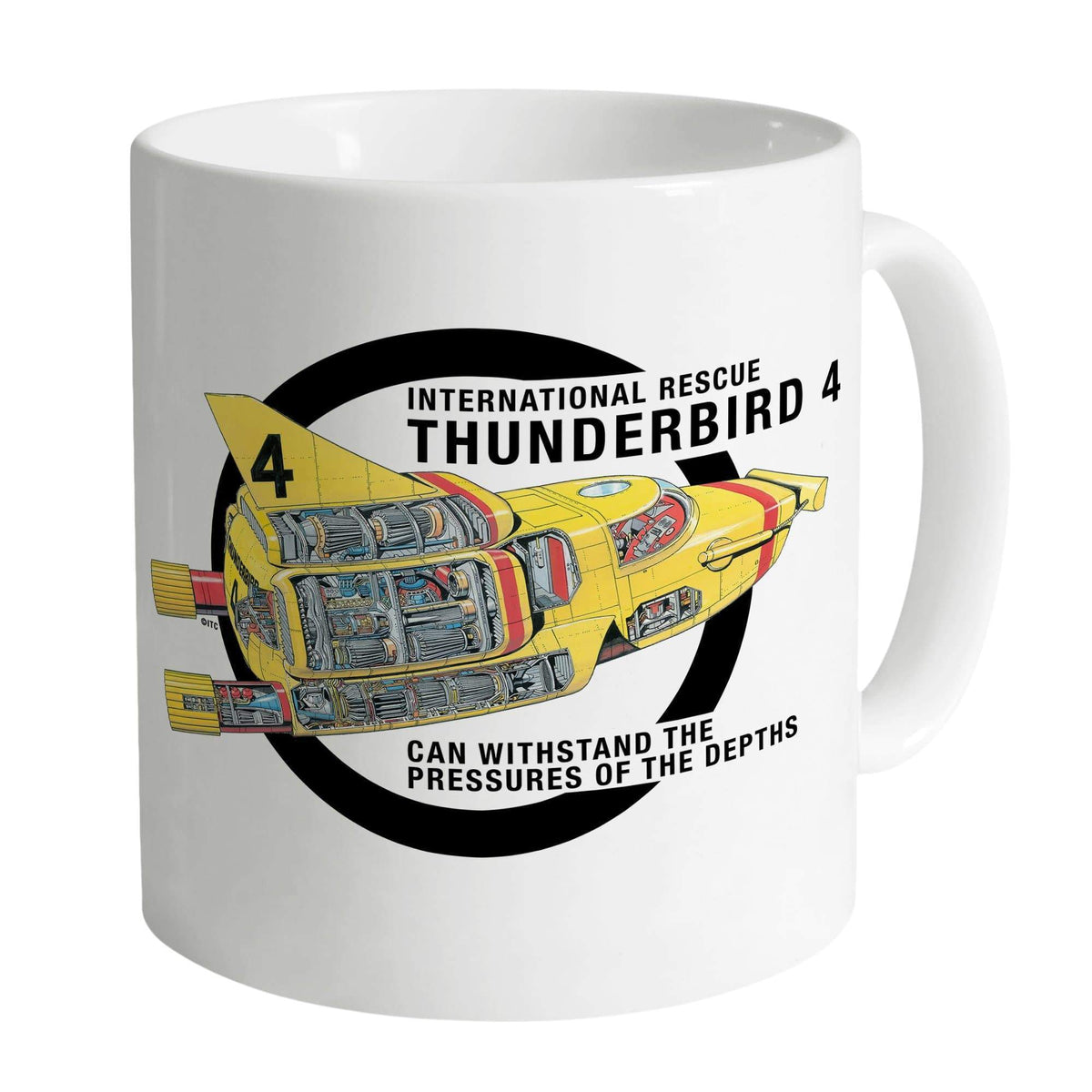 Thunderbird 4 Cutaway White Mug [Official & Exclusive] - The Gerry Anderson Store