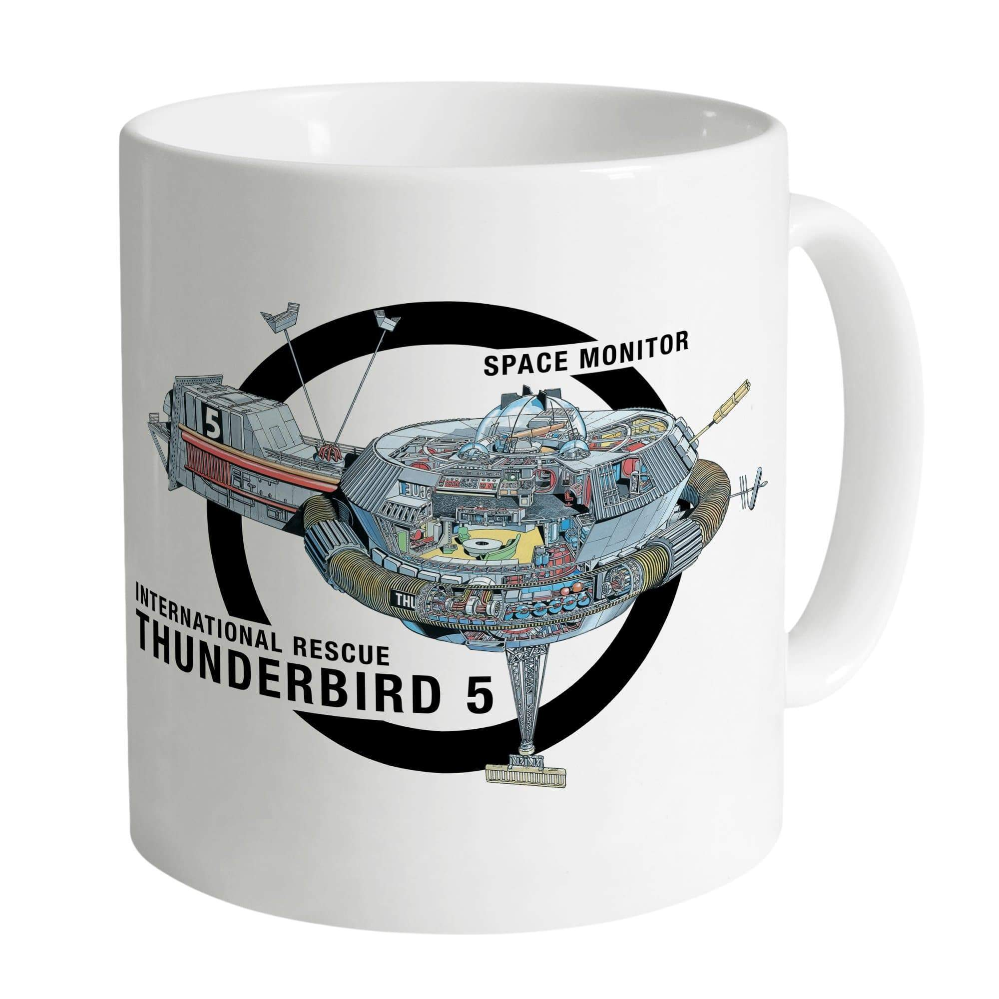 Thunderbird 5 Cutaway White Mug [Official & Exclusive] - The Gerry Anderson Store