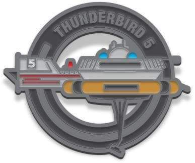 Thunderbird 5 Enamel Pin Badge by Florey - The Gerry Anderson Store