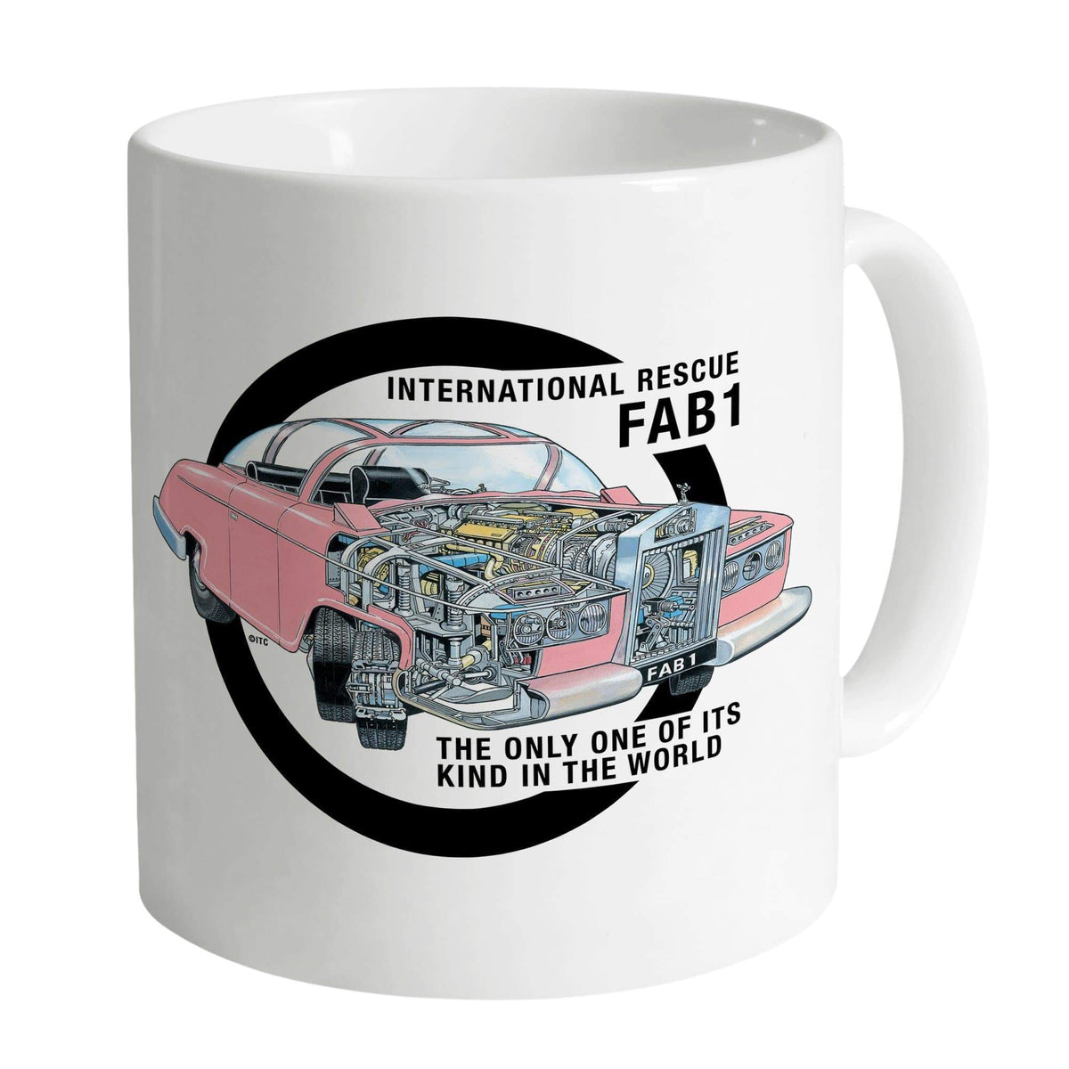 Thunderbird FAB 1 Cutaway White Mug [Official & Exclusive] - The Gerry Anderson Store