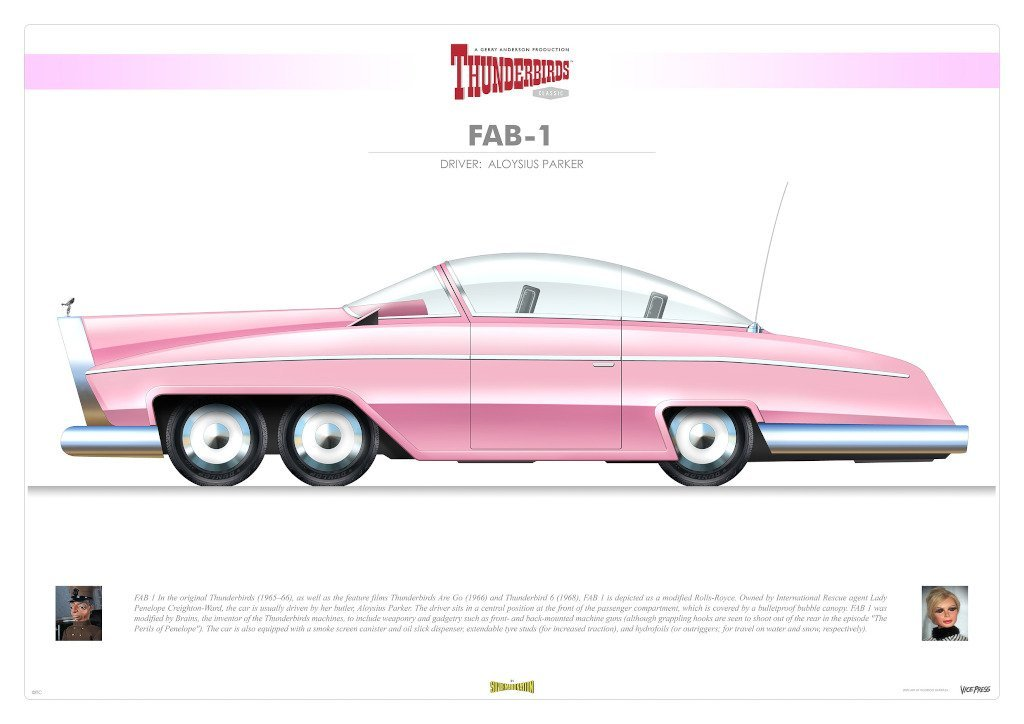 Thunderbird FAB 1 Infographic Print by Rodrigo Barrazza - The Gerry Anderson Store