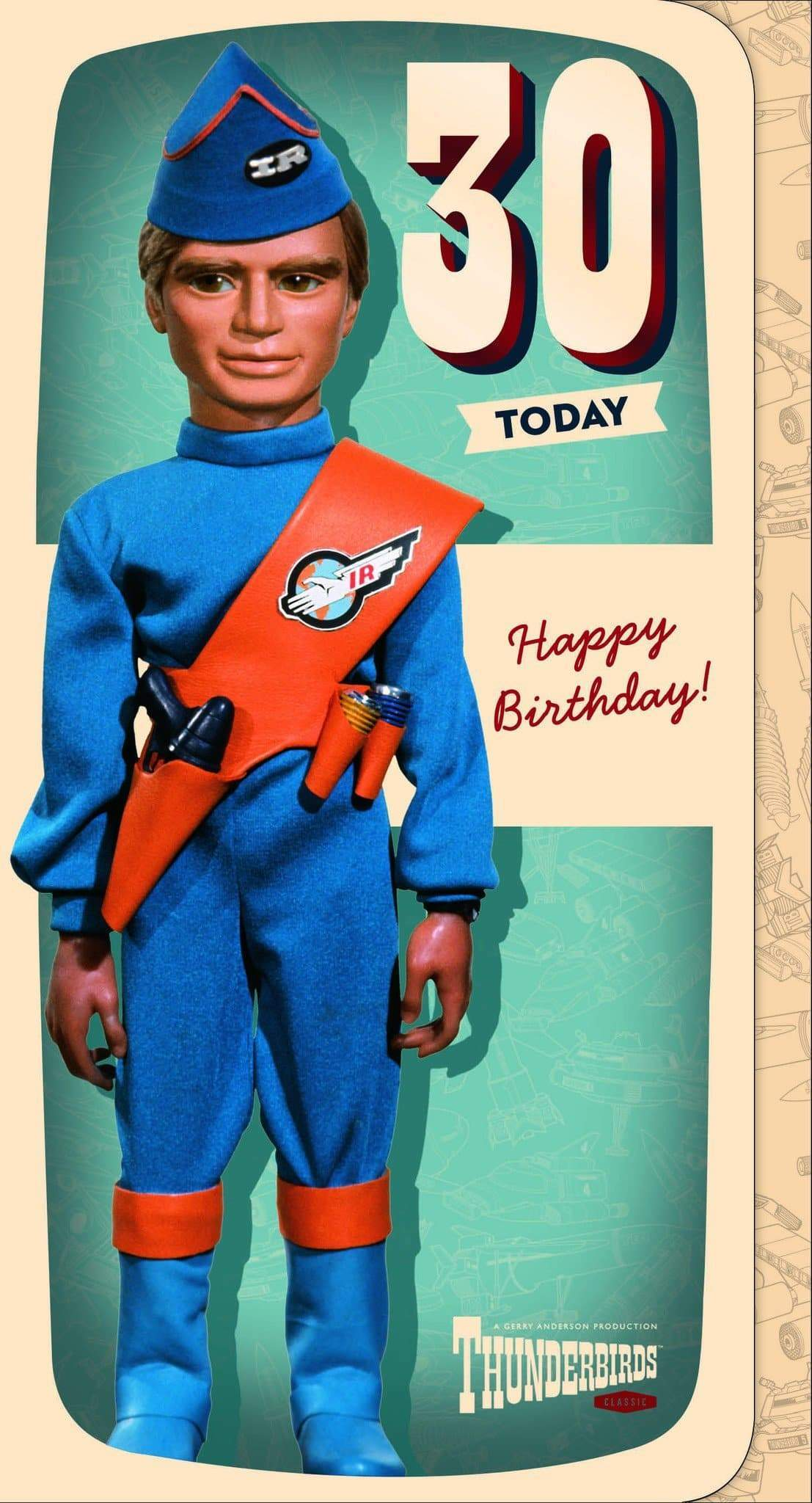 Thunderbirds Age 30 Birthday Card - The Gerry Anderson Store