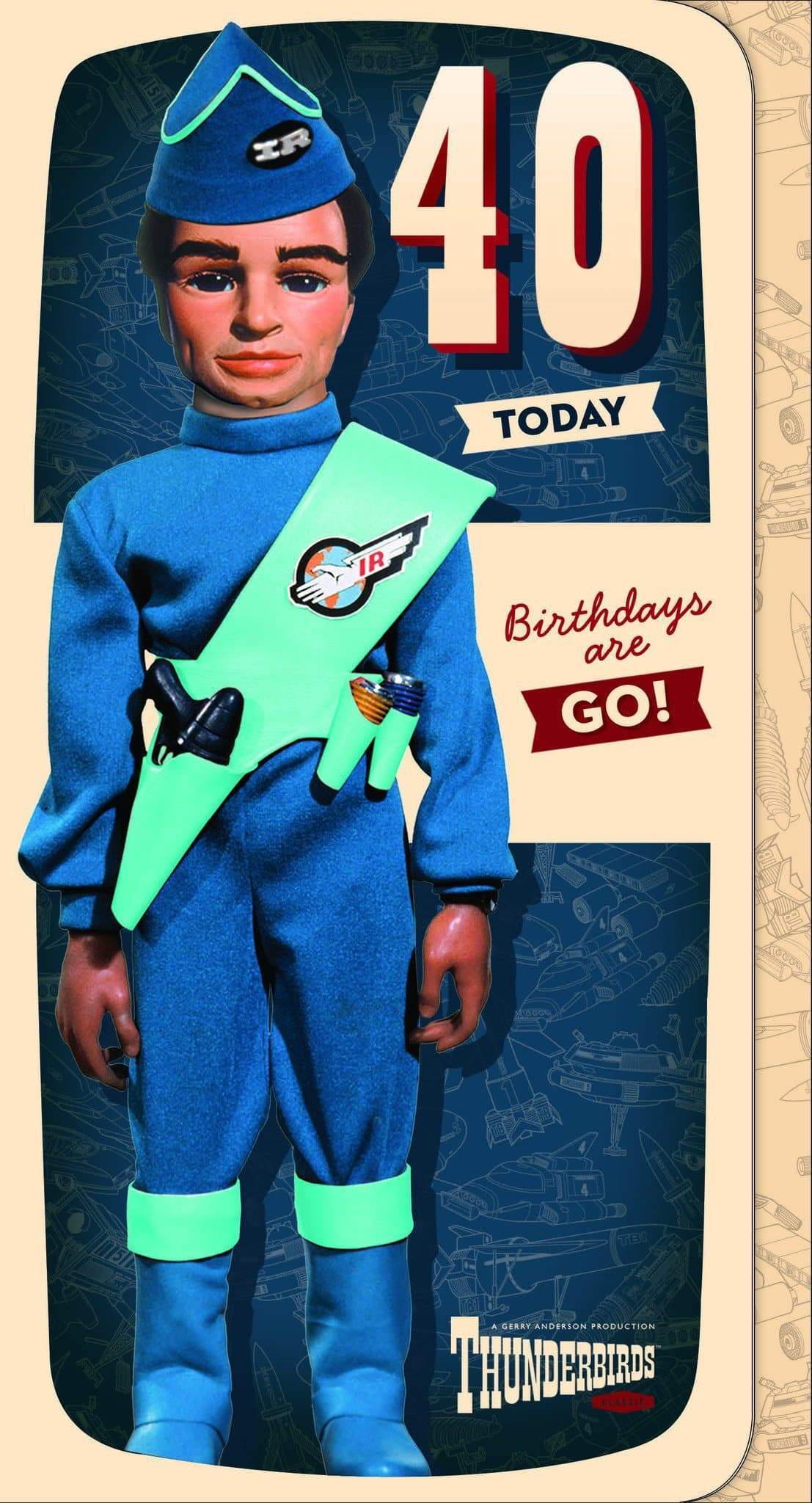 Thunderbirds Age 40 Birthday Card - The Gerry Anderson Store