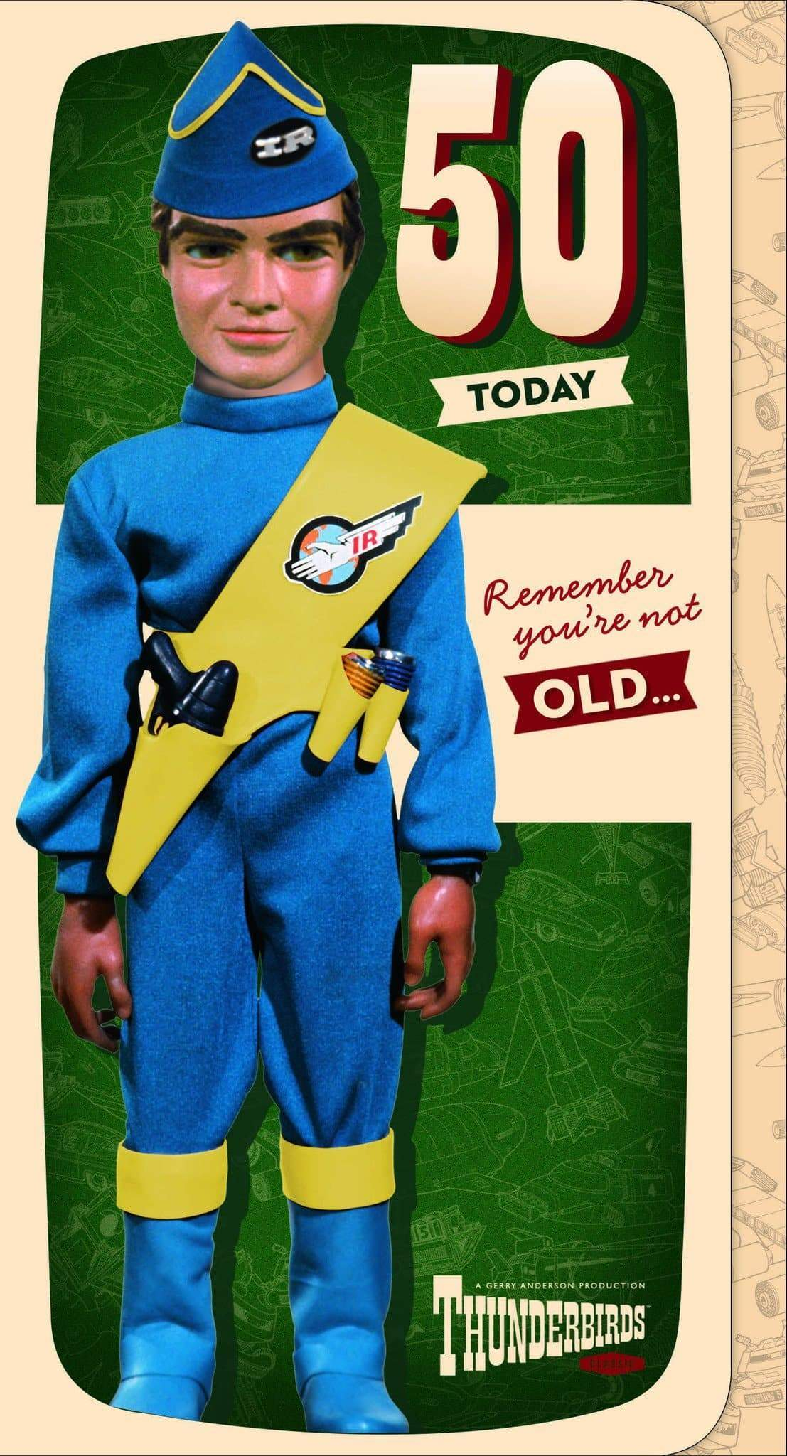 Thunderbirds Age 50 Birthday Card - The Gerry Anderson Store