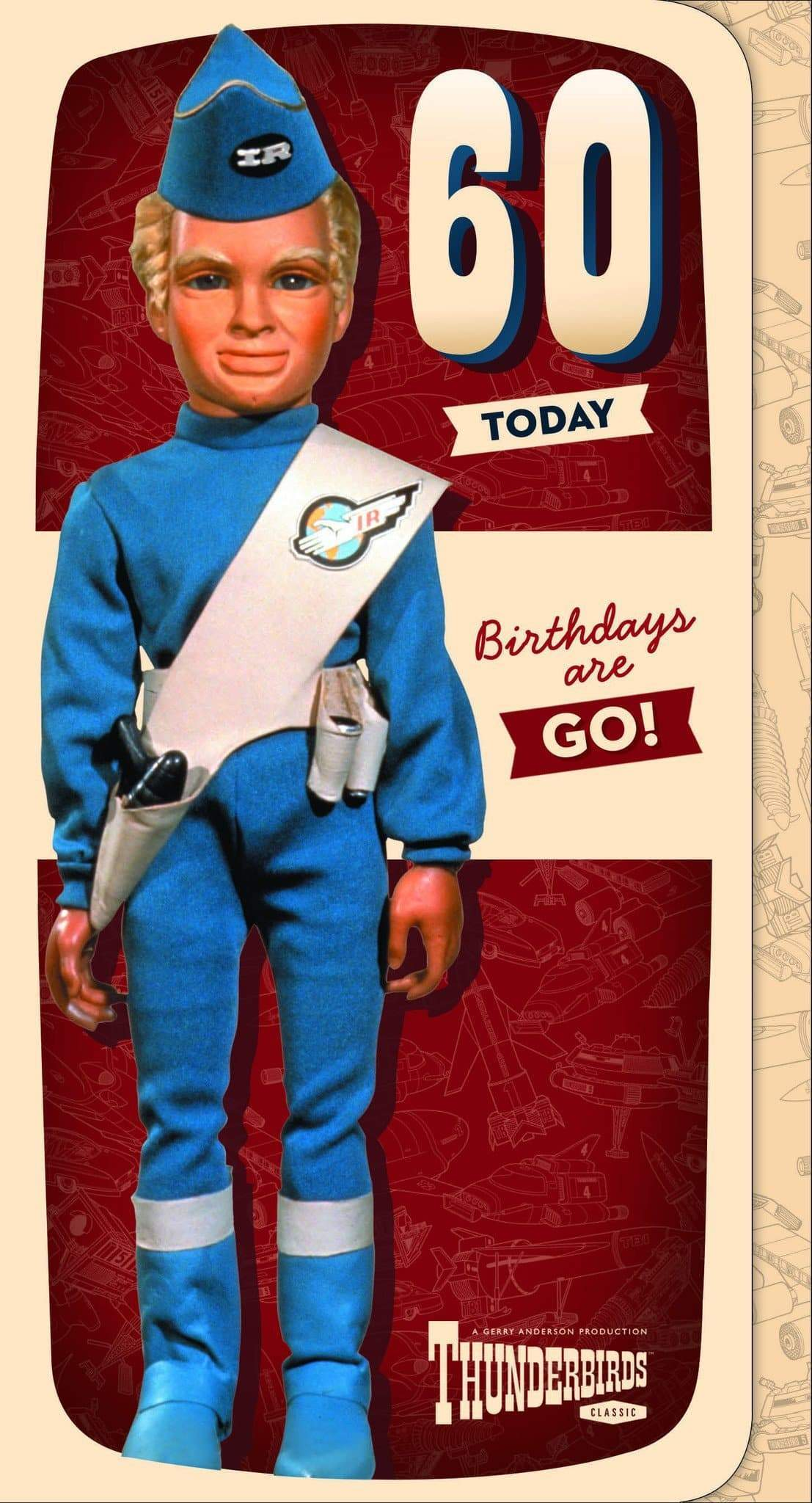 Thunderbirds Age 60 Birthday Card - The Gerry Anderson Store