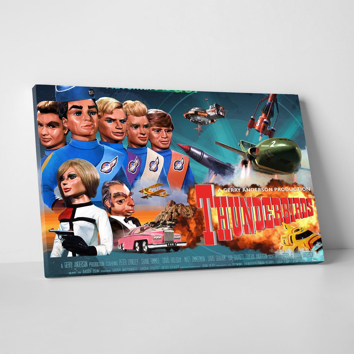 Thunderbirds Canvas Print [Official and Exclusive] - The Gerry Anderson Store