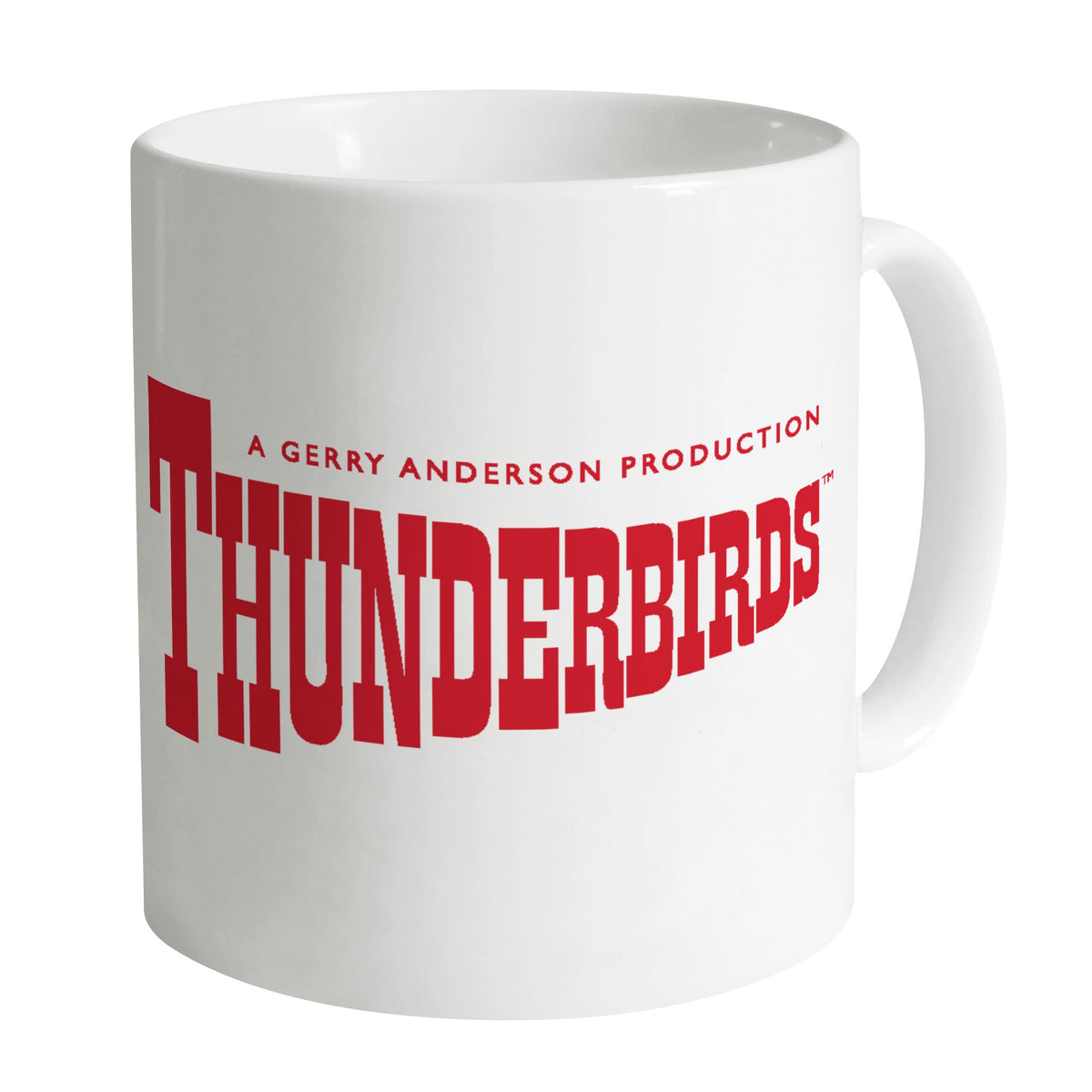 Thunderbirds Classic Logo White Mug [Official & Exclusive] - The Gerry Anderson Store