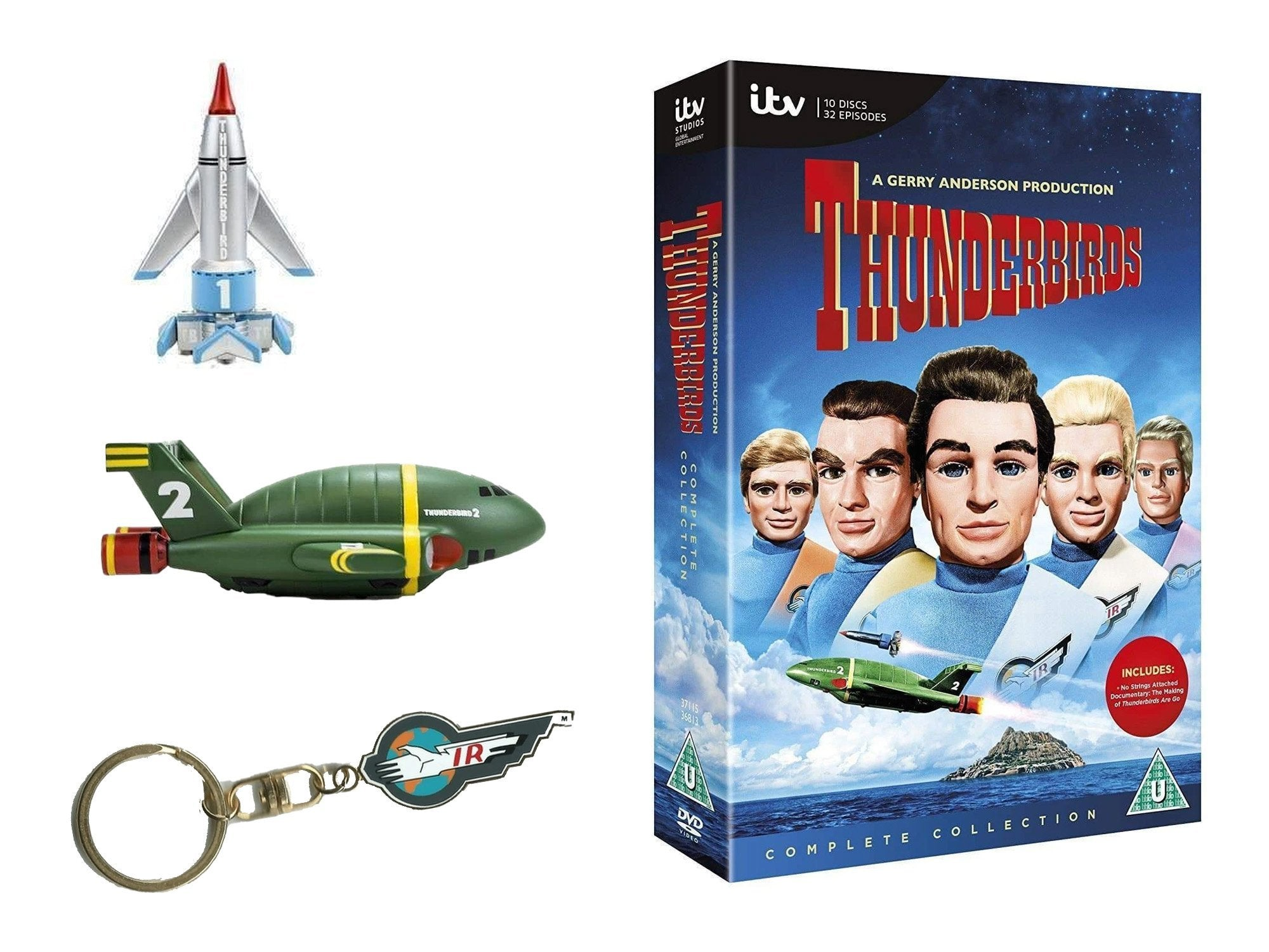 Thunderbirds DVD, Vehicles and Keyring Gift Pack (Bundle) - The Gerry Anderson Store