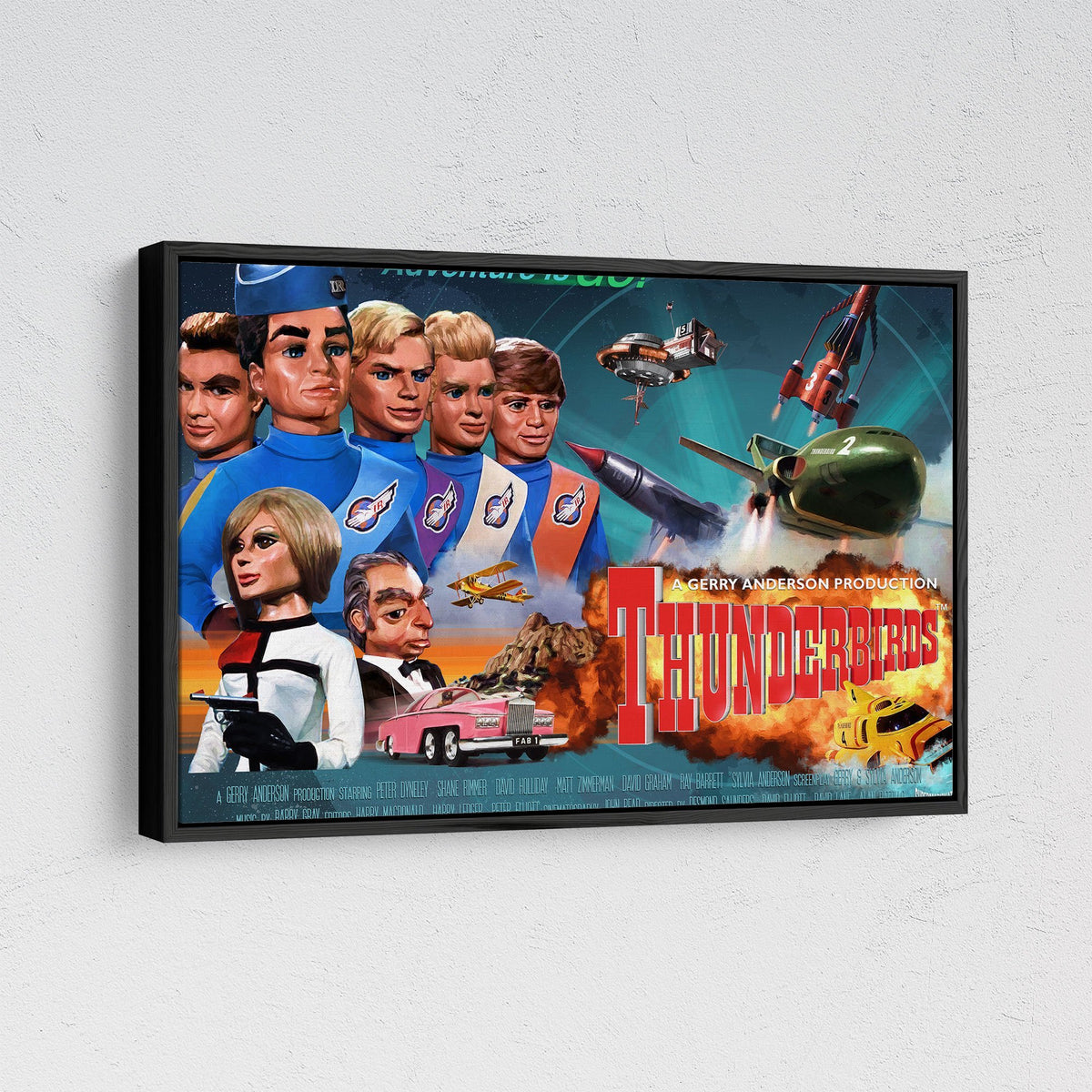 Thunderbirds Framed Canvas Print [Official and Exclusive] - The Gerry Anderson Store