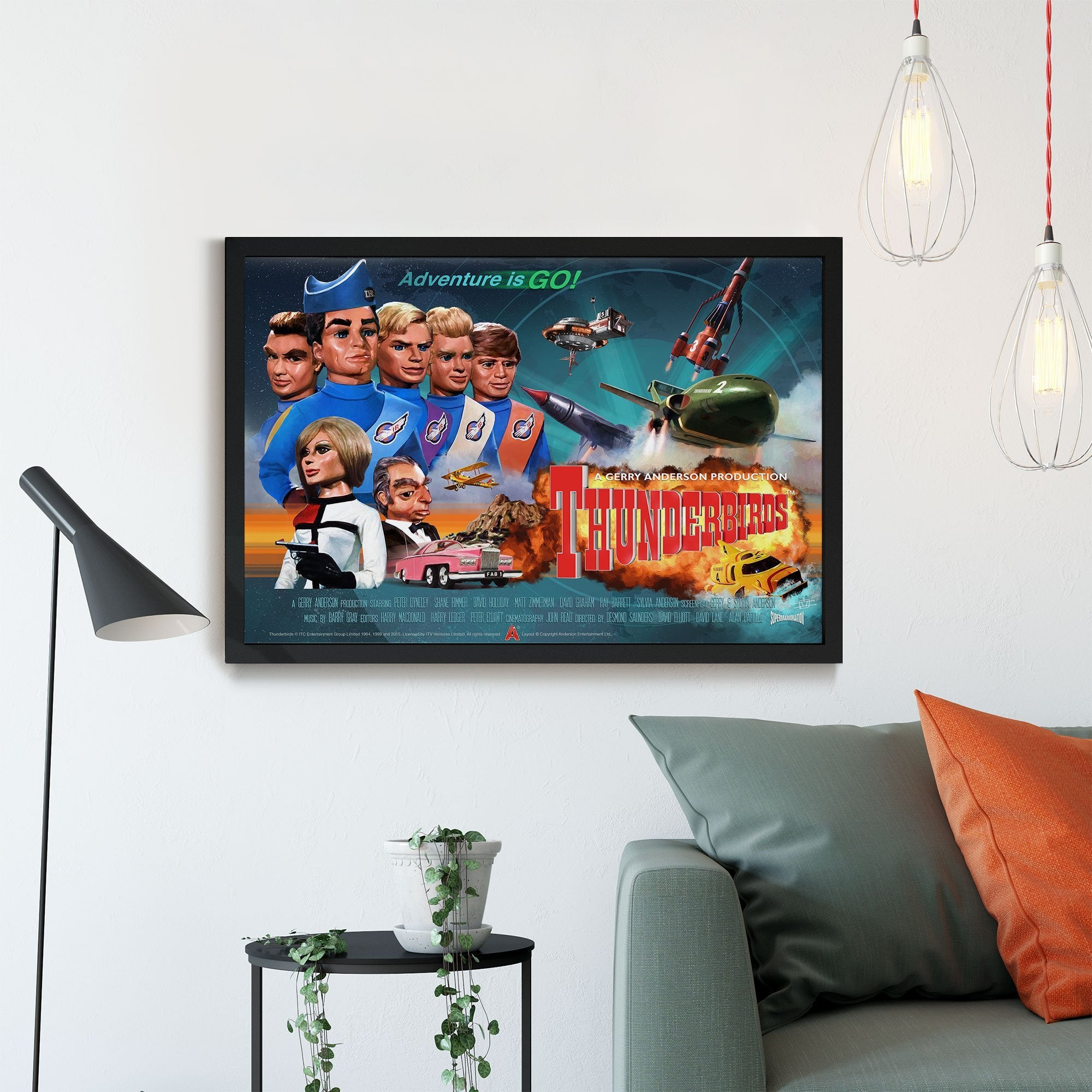 Thunderbirds Framed Print [Official and Exclusive] - The Gerry Anderson Store