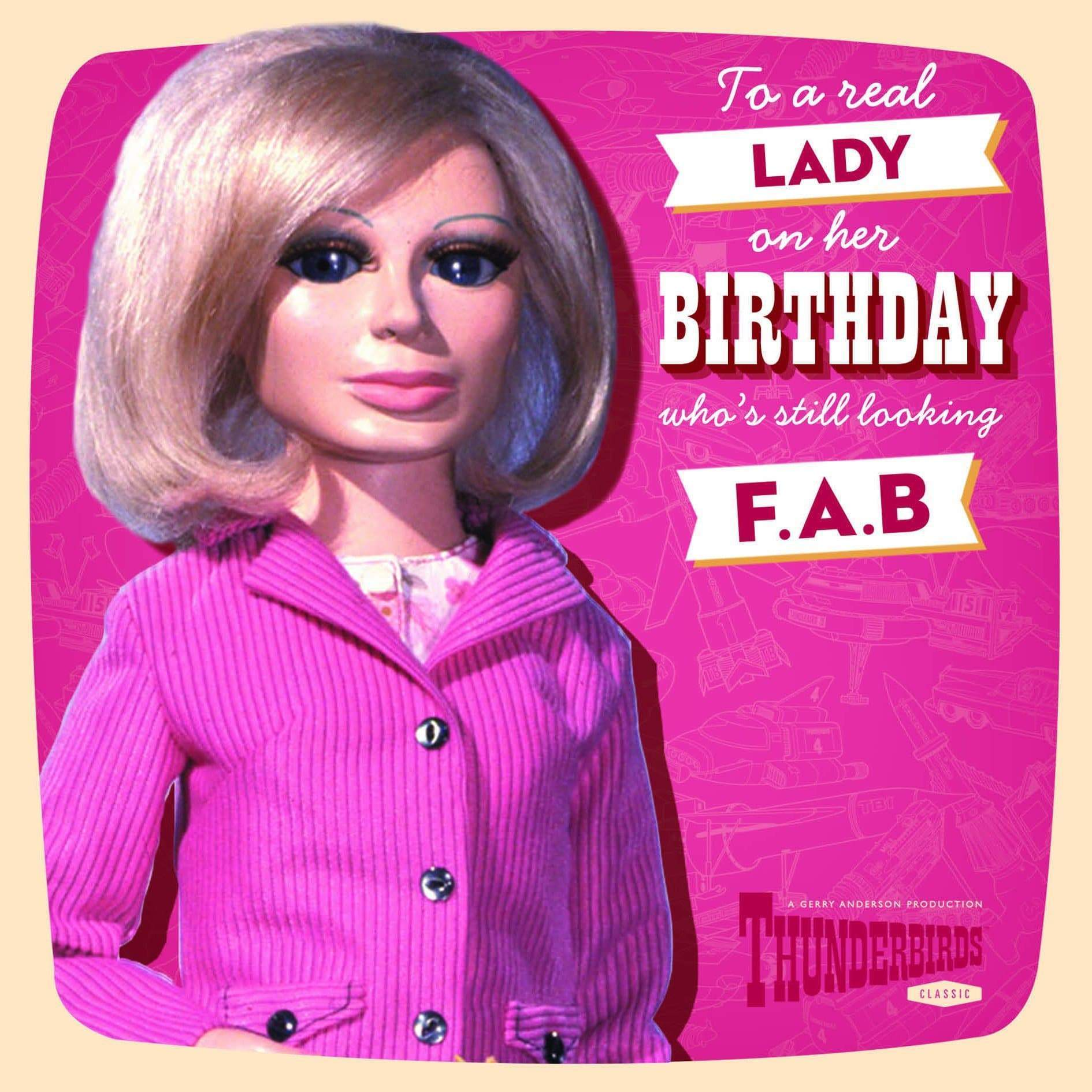 Thunderbirds Lady Penelope Birthday Card - The Gerry Anderson Store