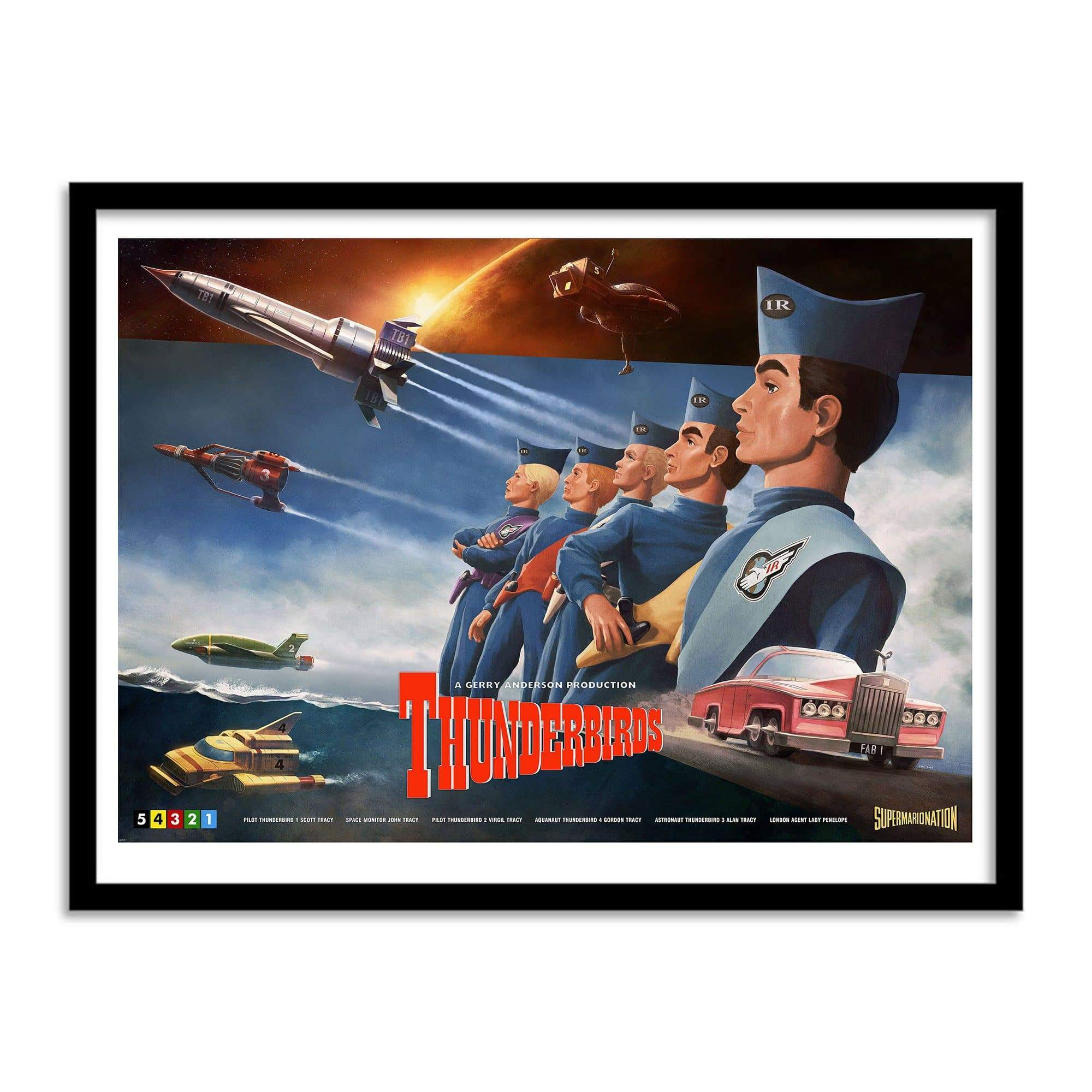 Thunderbirds Print by Henrik Sahlstrom - The Gerry Anderson Store