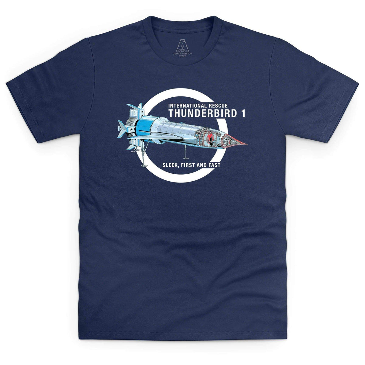 Thunderbirds: Thunderbird 1 Cutaway Men's T-Shirt [Official & Exclusive] - The Gerry Anderson Store