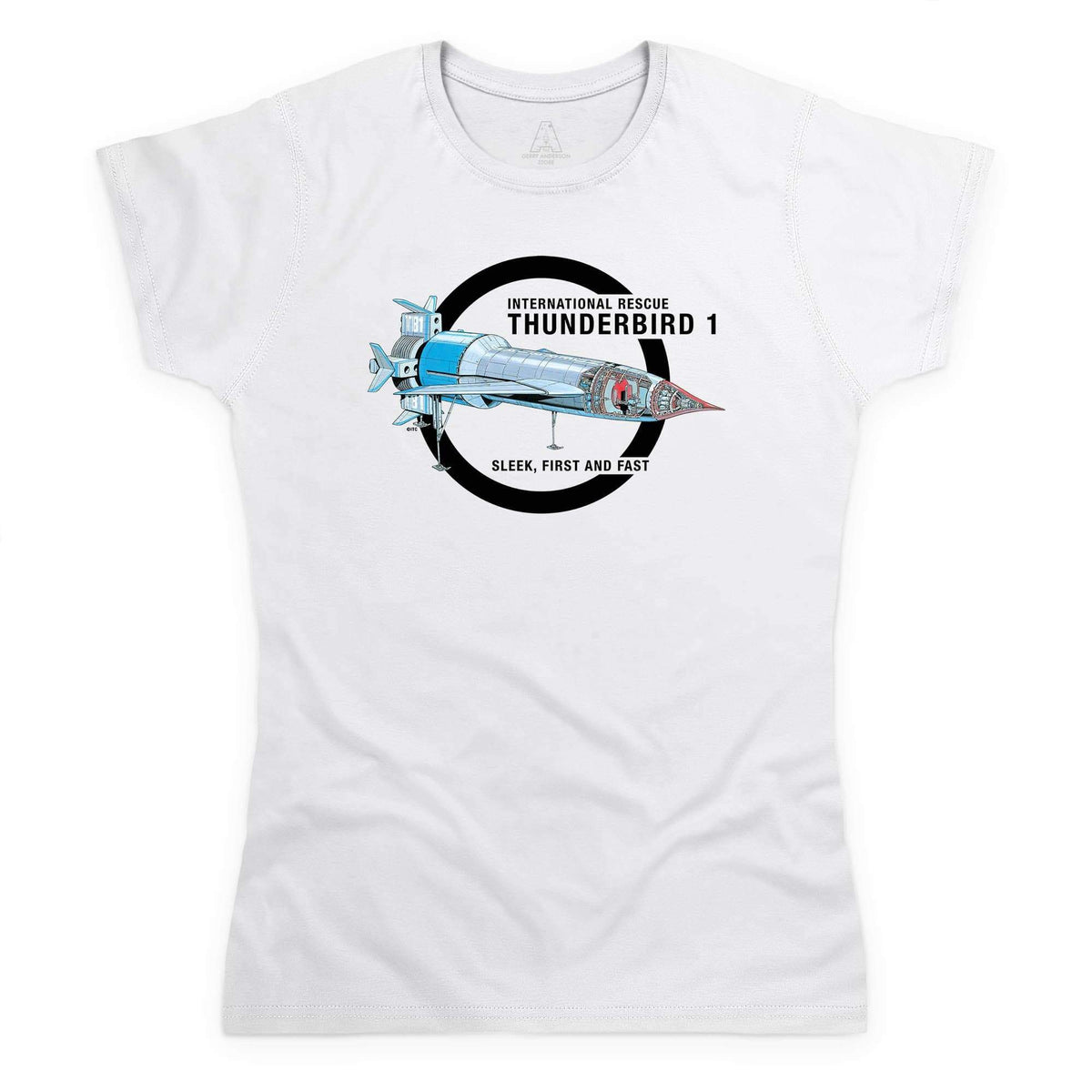 Thunderbirds: Thunderbird 1 Cutaway Women's White T-Shirt [Official & Exclusive] - The Gerry Anderson Store