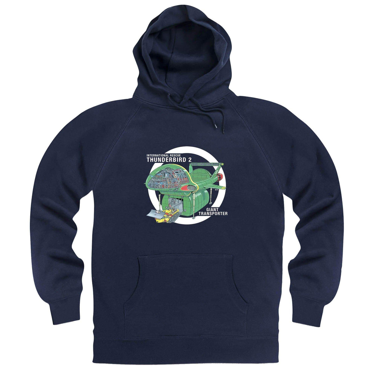 Thunderbirds: Thunderbird 2 Cutaway Hoodie [Official & Exclusive] - The Gerry Anderson Store