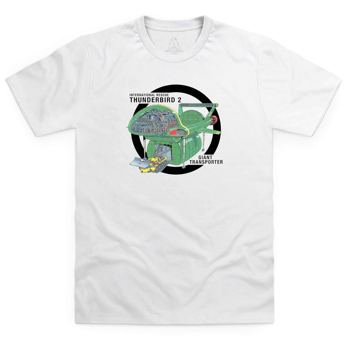 Thunderbirds: Thunderbird 2 Cutaway Men's White T-Shirt [Official & Exclusive] - The Gerry Anderson Store