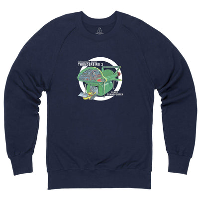 Thunderbirds: Thunderbird 2 Cutaway Sweatshirt [Official & Exclusive] - The Gerry Anderson Store