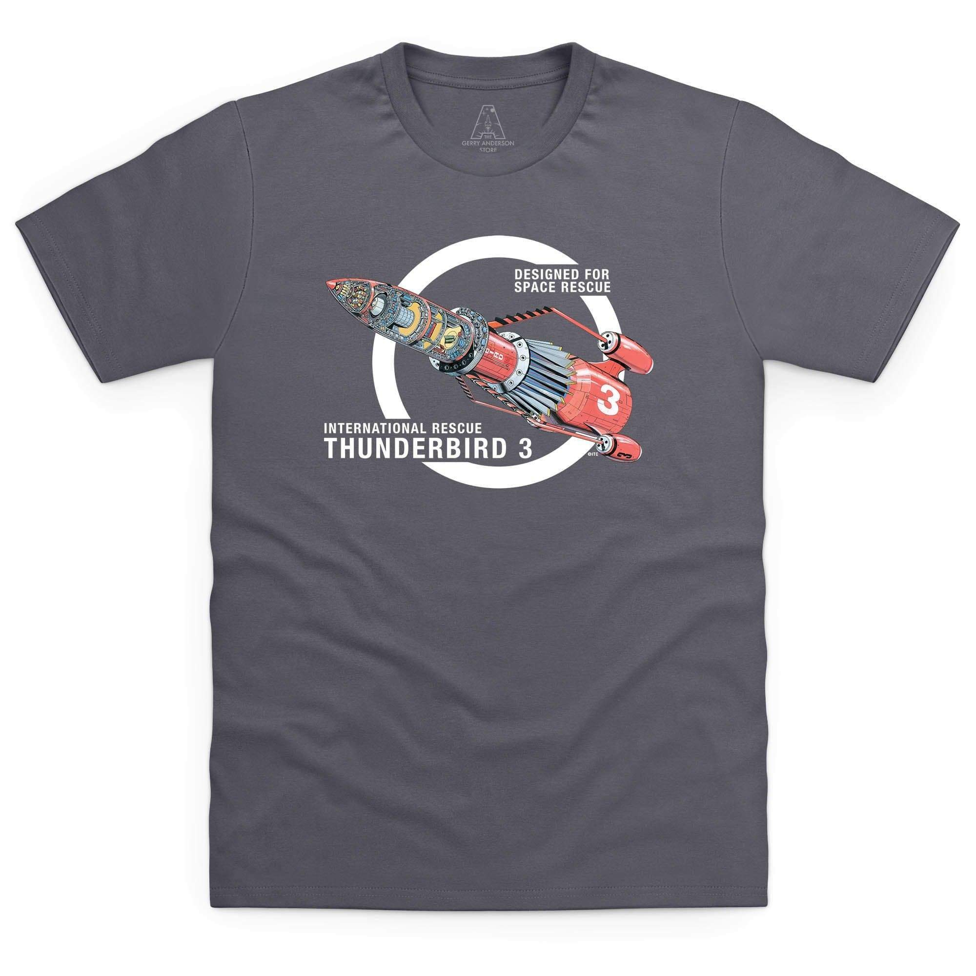 Thunderbirds: Thunderbird 3 Cutaway Men's T-Shirt [Official & Exclusive] - The Gerry Anderson Store