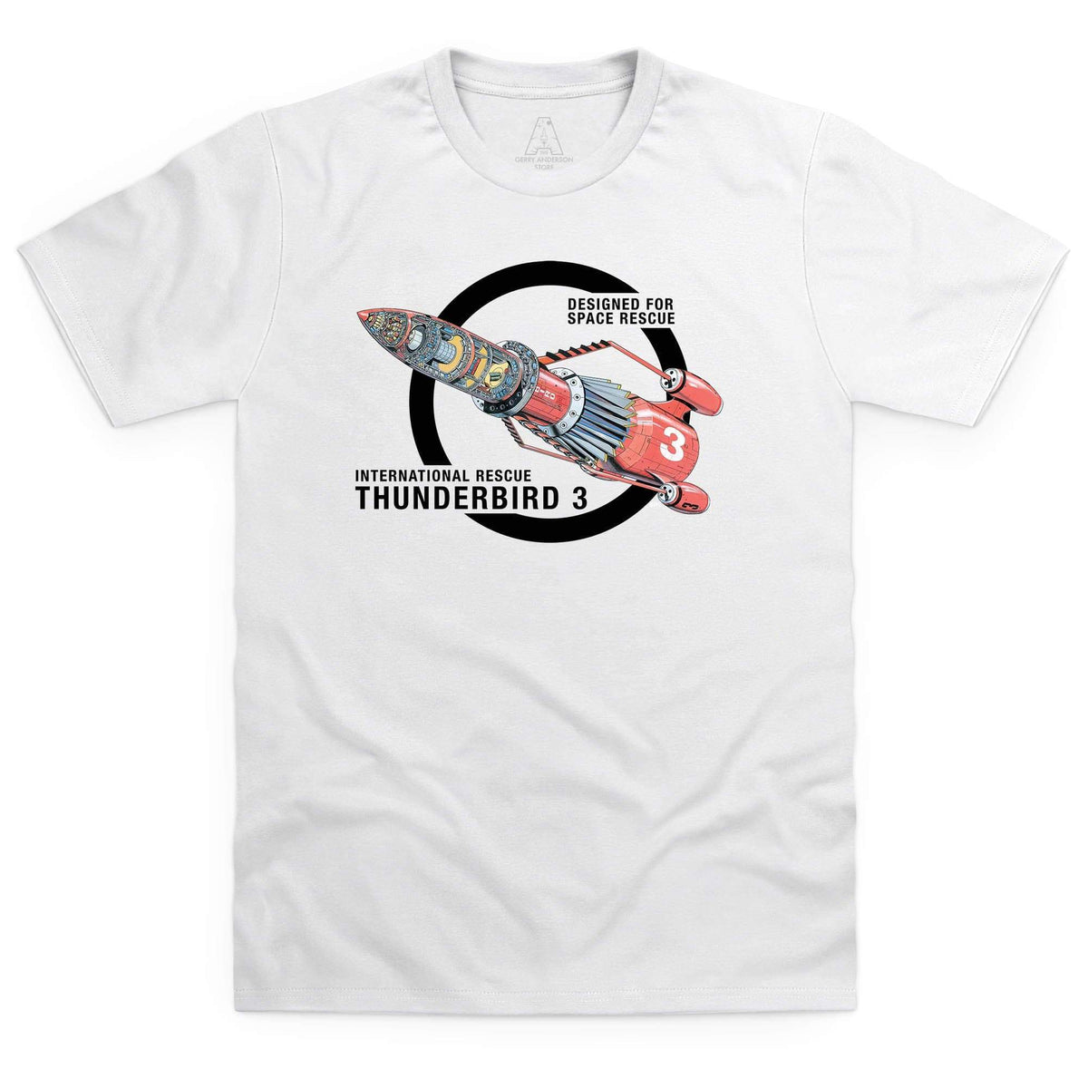 Thunderbirds: Thunderbird 3 Cutaway Men's White T-Shirt [Official & Exclusive] - The Gerry Anderson Store