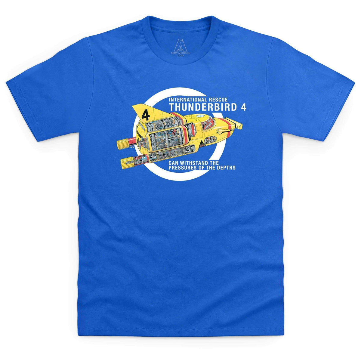 Thunderbirds: Thunderbird 4 Cutaway Men's T-Shirt [Official & Exclusive] - The Gerry Anderson Store