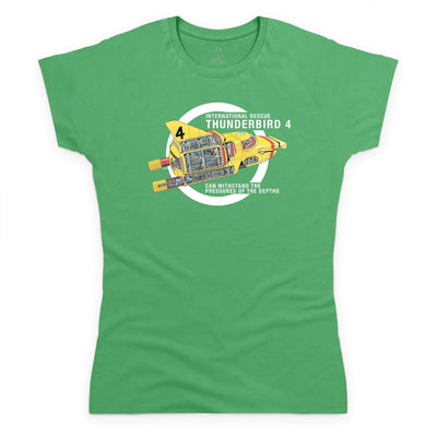 Thunderbirds: Thunderbird 4 Cutaway Women's T-Shirt [Official & Exclusive] - The Gerry Anderson Store