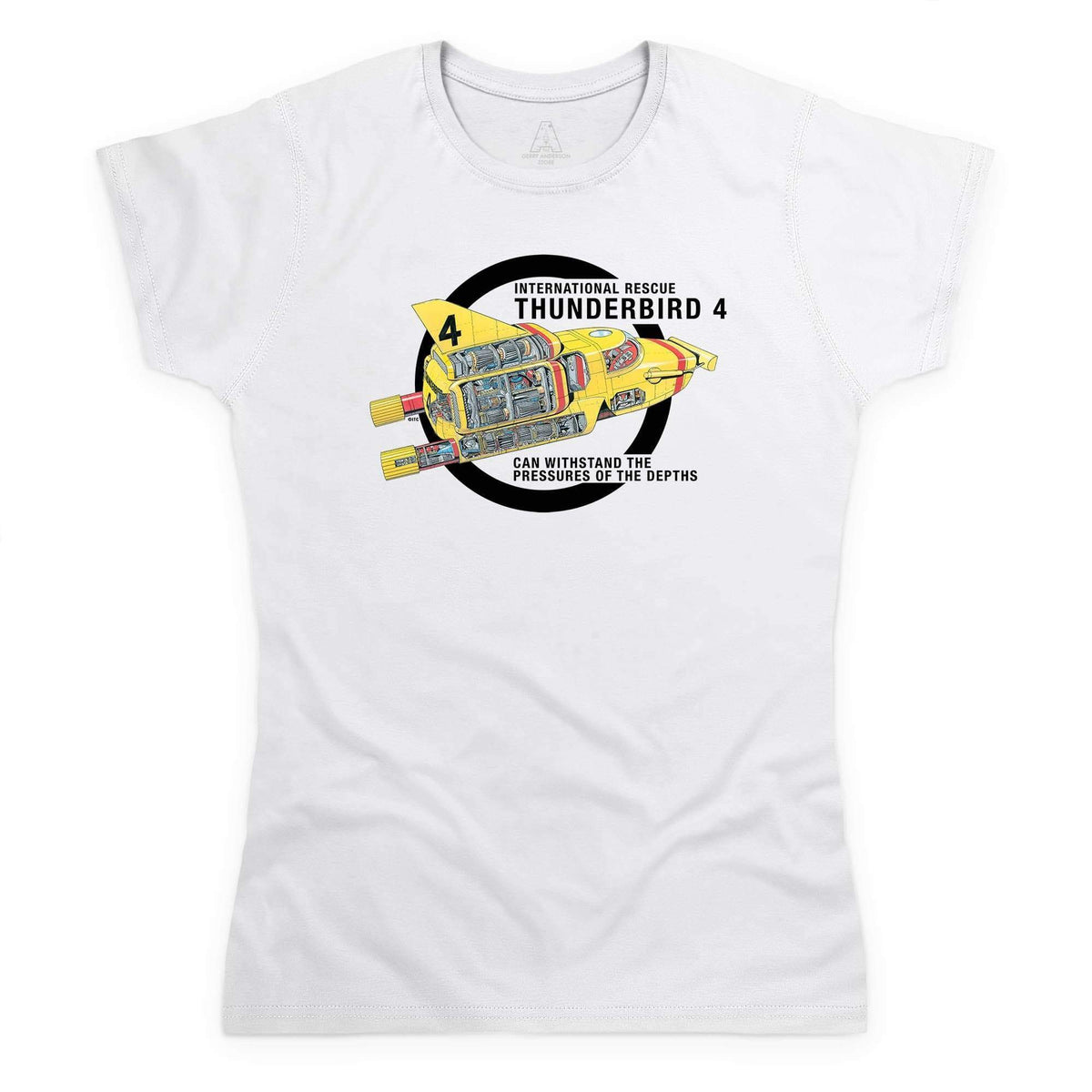 Thunderbirds: Thunderbird 4 Cutaway Women's White T-Shirt [Official & Exclusive] - The Gerry Anderson Store