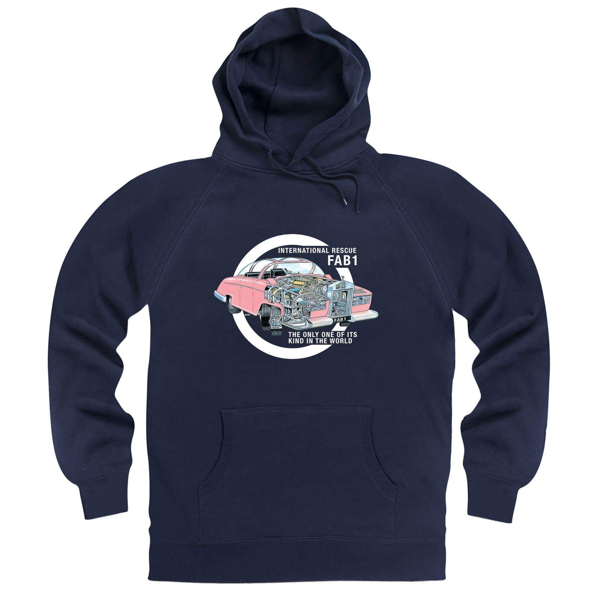 Thunderbirds: Thunderbird FAB 1 Cutaway Hoodie [Official & Exclusive] - The Gerry Anderson Store
