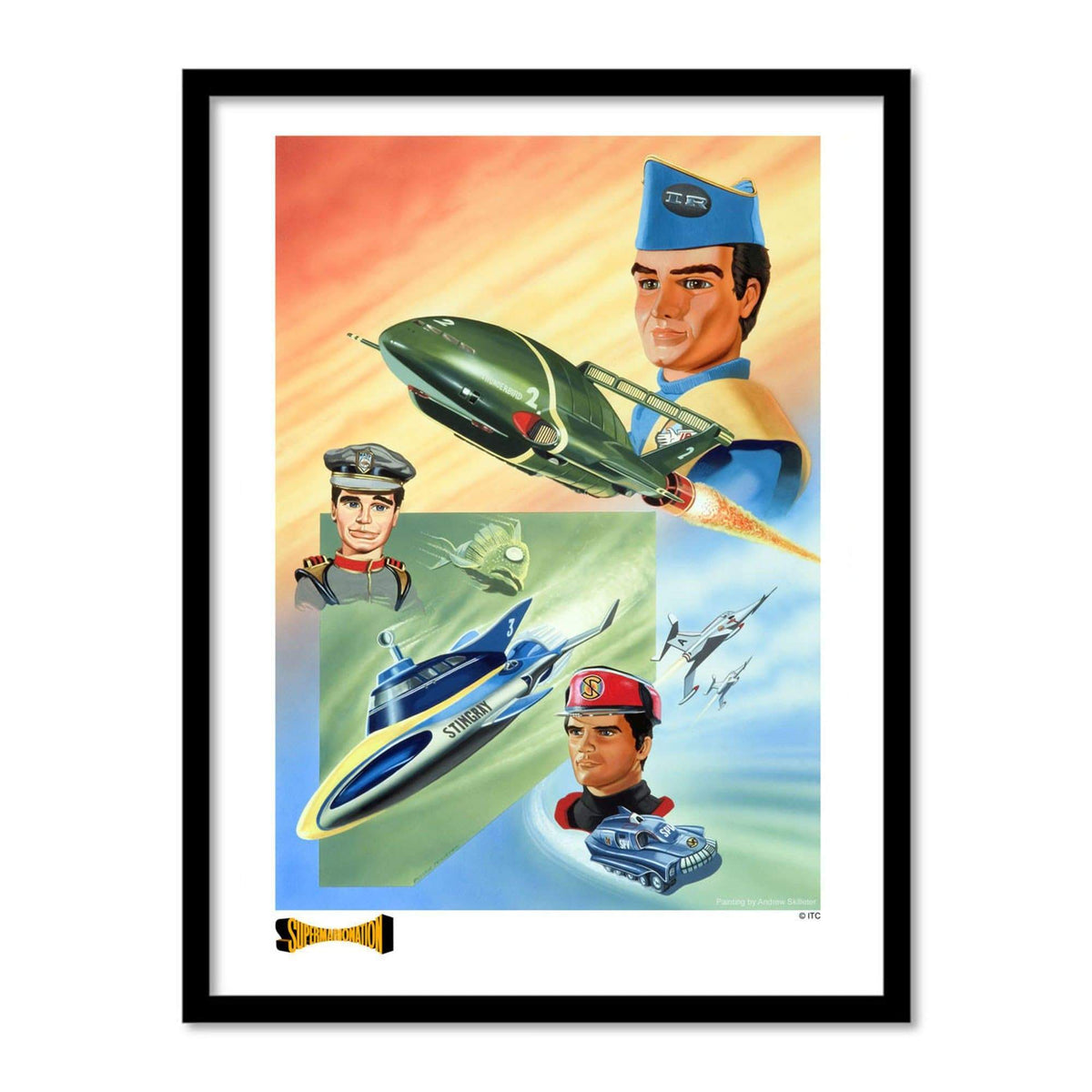 Trio: Thunderbirds, Stingray and Captain Scarlet Artist Signed Print (Official & Exclusive] - The Gerry Anderson Store
