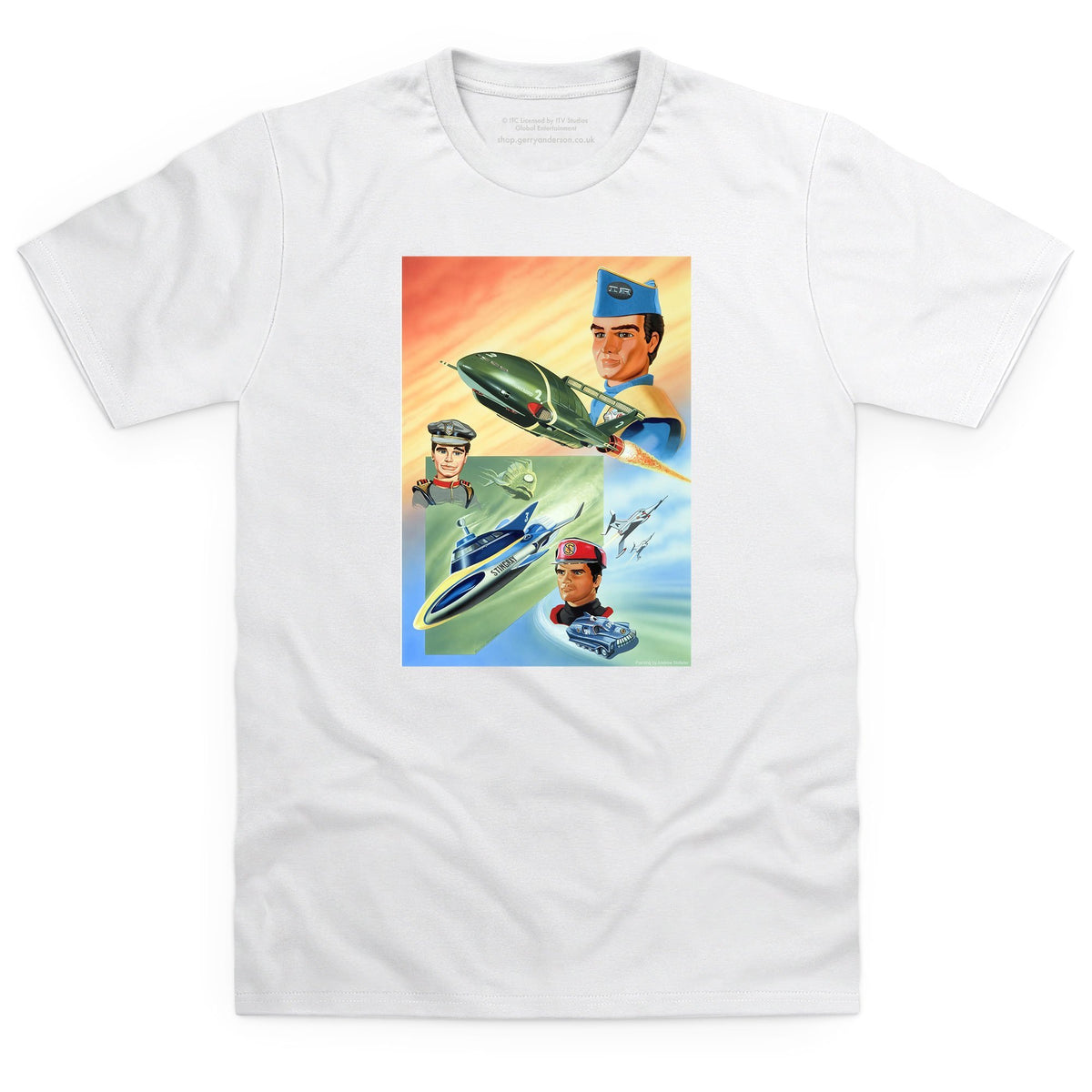 Trio: Thunderbirds, Stingray and Captain Scarlet Men's T-Shirt (Official & Exclusive] - The Gerry Anderson Store
