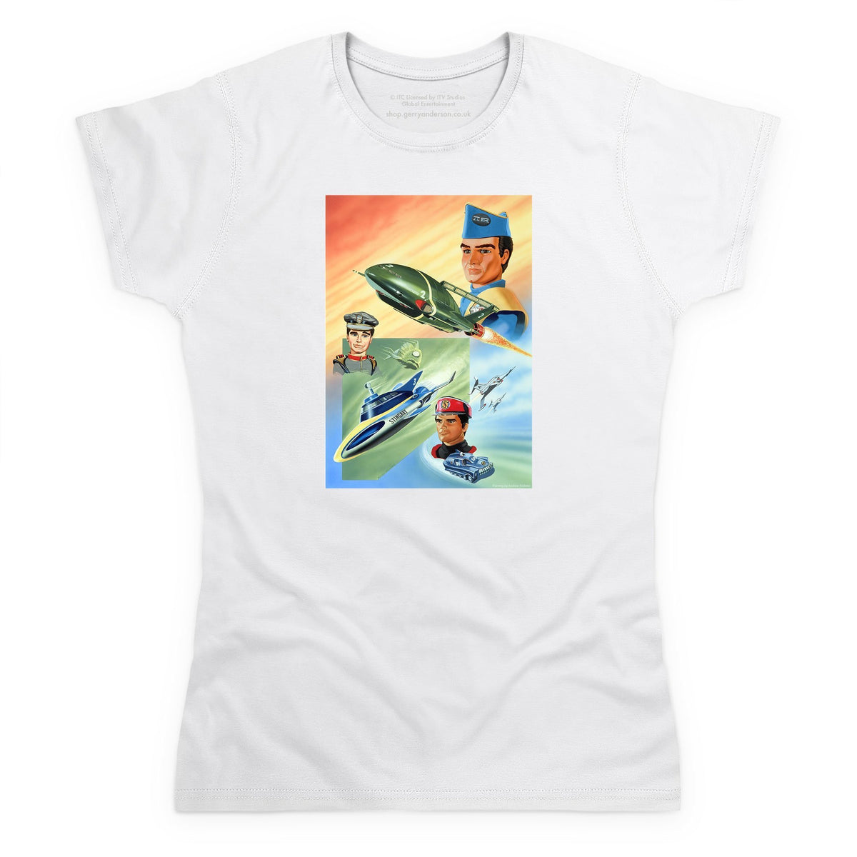 Trio: Thunderbirds, Stingray and Captain Scarlet Women's T-Shirt (Official & Exclusive] - The Gerry Anderson Store