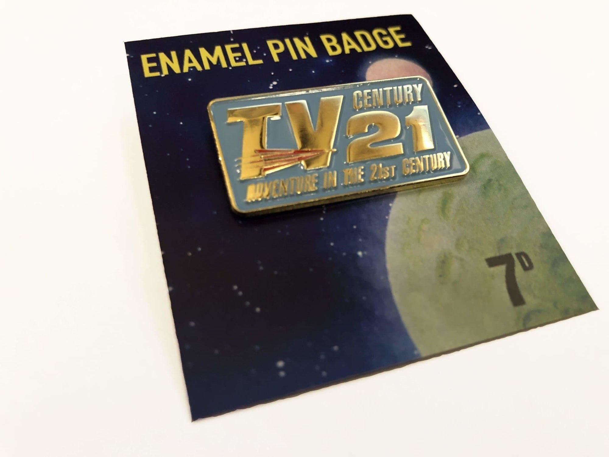TV21 Enamel Badge {Exclusive} - The Gerry Anderson Store